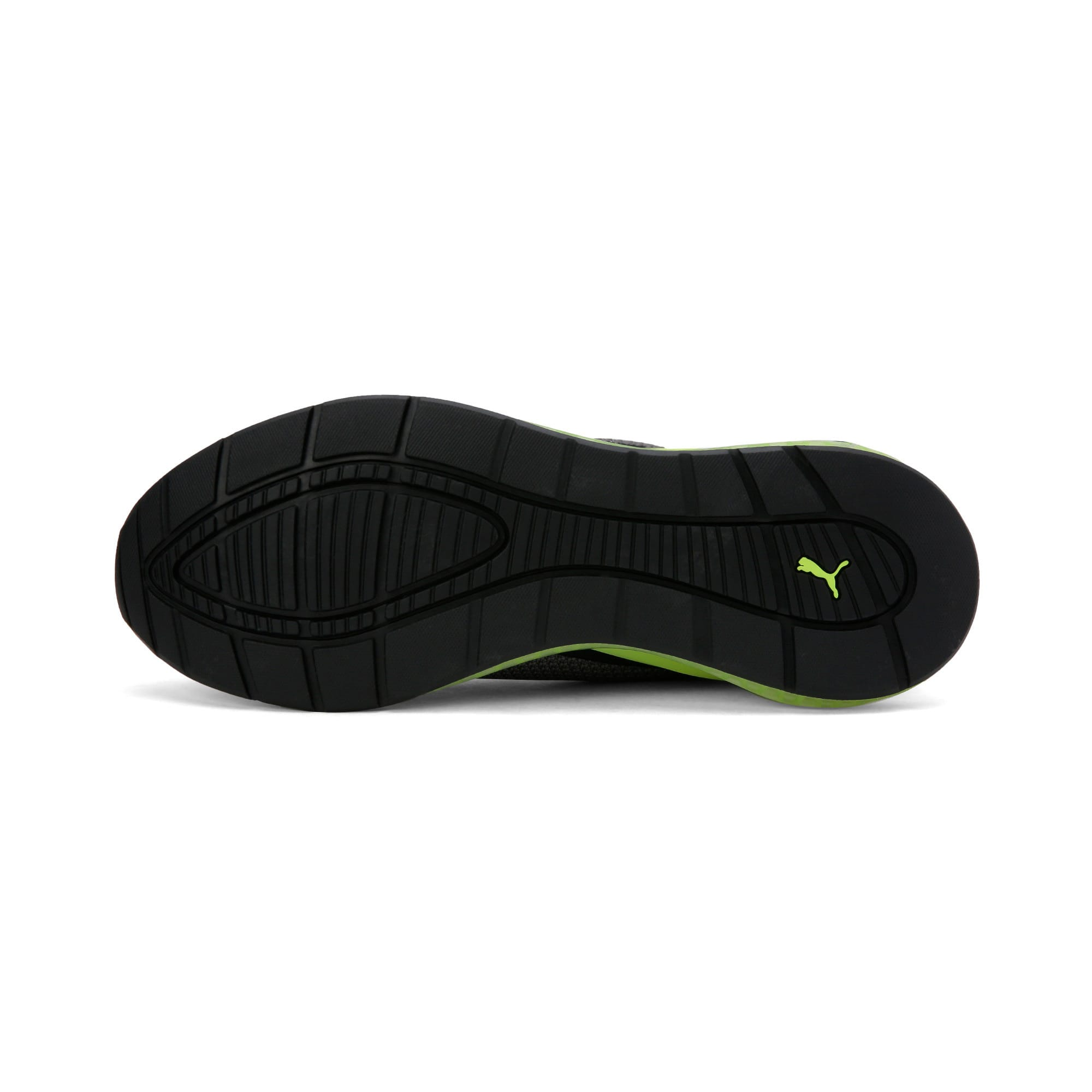 Thumbnail 6 of Cell Descend Weave Running Trainers, CASTLEROCK-Black-Yellow, medium-IND