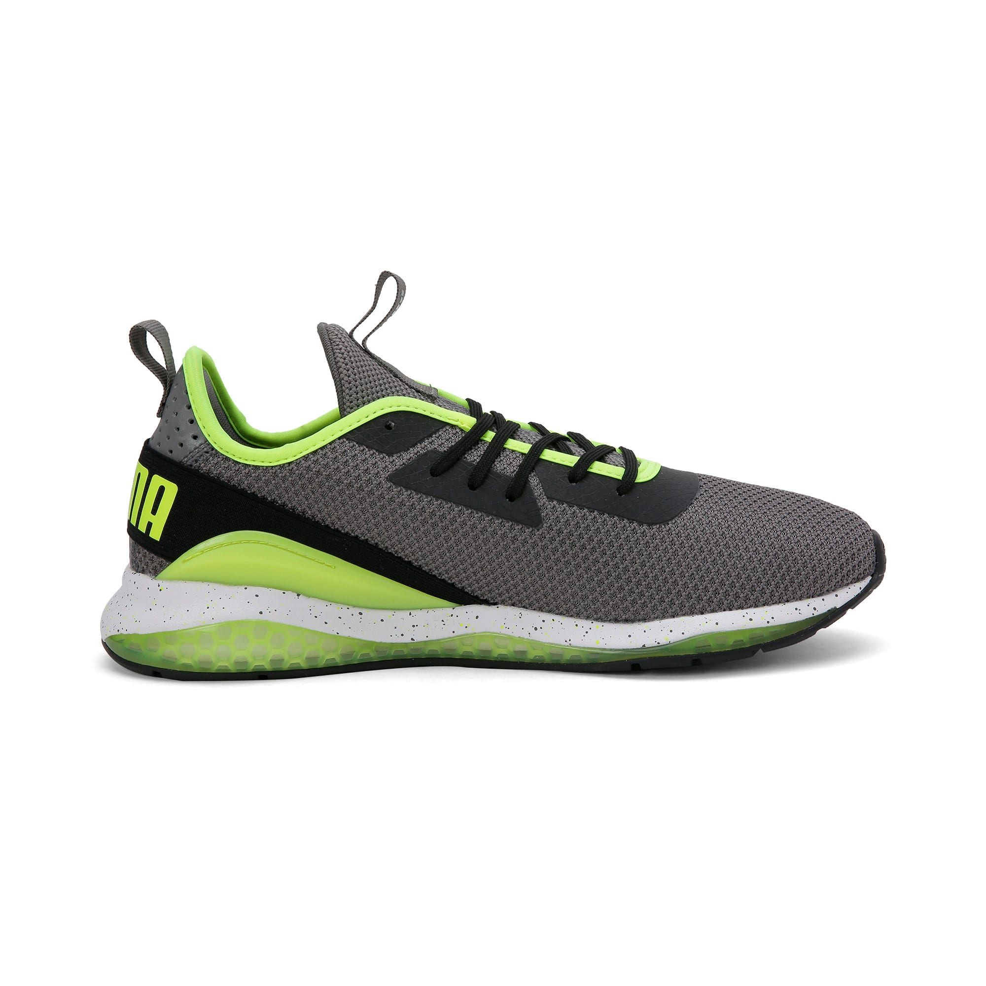 Thumbnail 7 of Cell Descend Weave Running Trainers, CASTLEROCK-Black-Yellow, medium-IND
