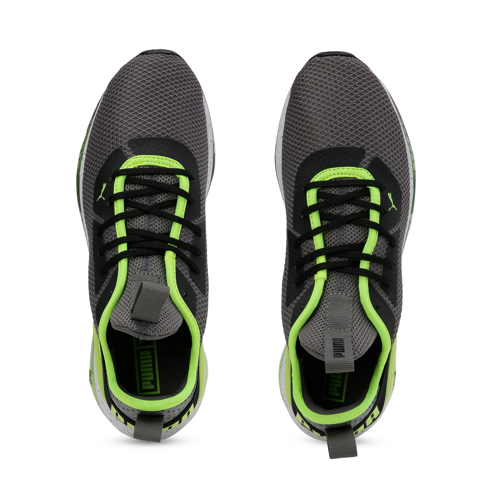 Thumbnail 8 of Cell Descend Weave Running Trainers, CASTLEROCK-Black-Yellow, medium-IND