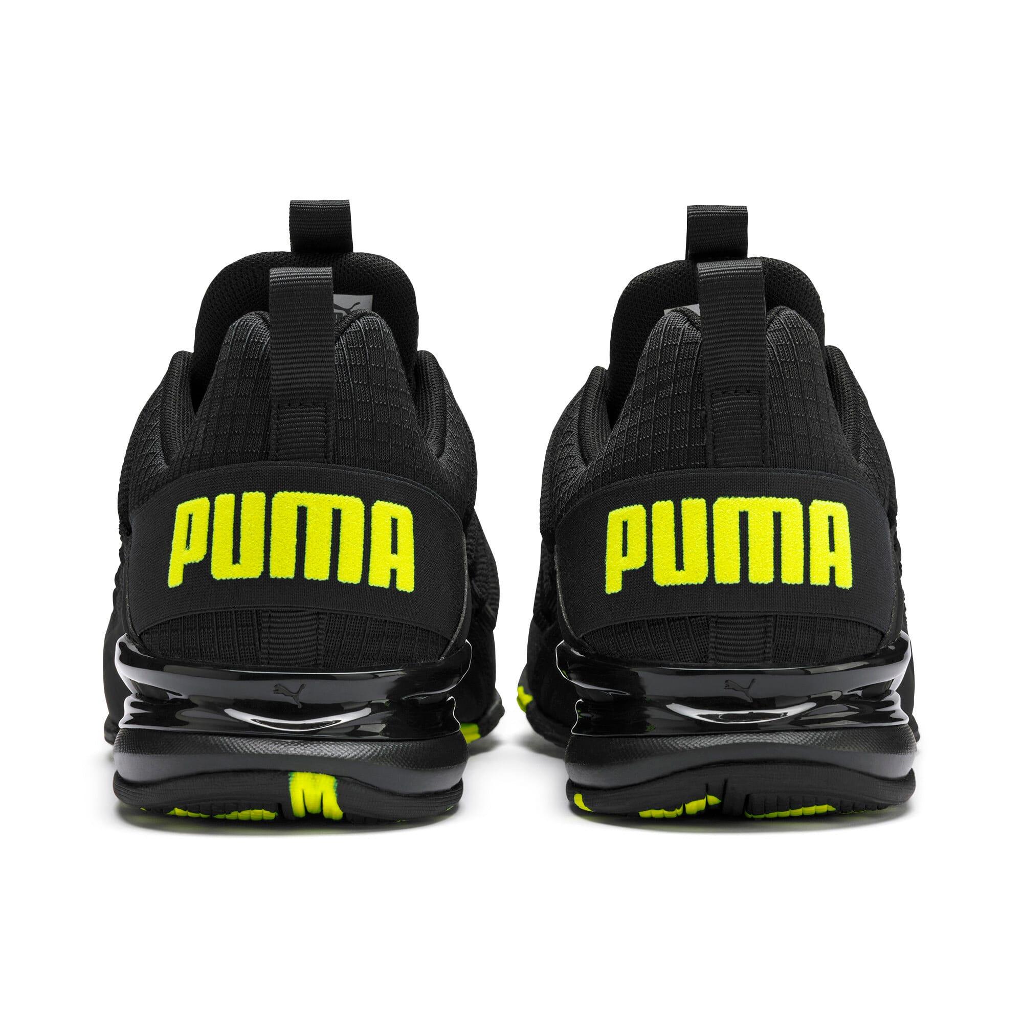 Miniatura 4 de Zapatos de entrenamiento Axelion Rip para hombre, Puma Black-Yellow Alert, mediano