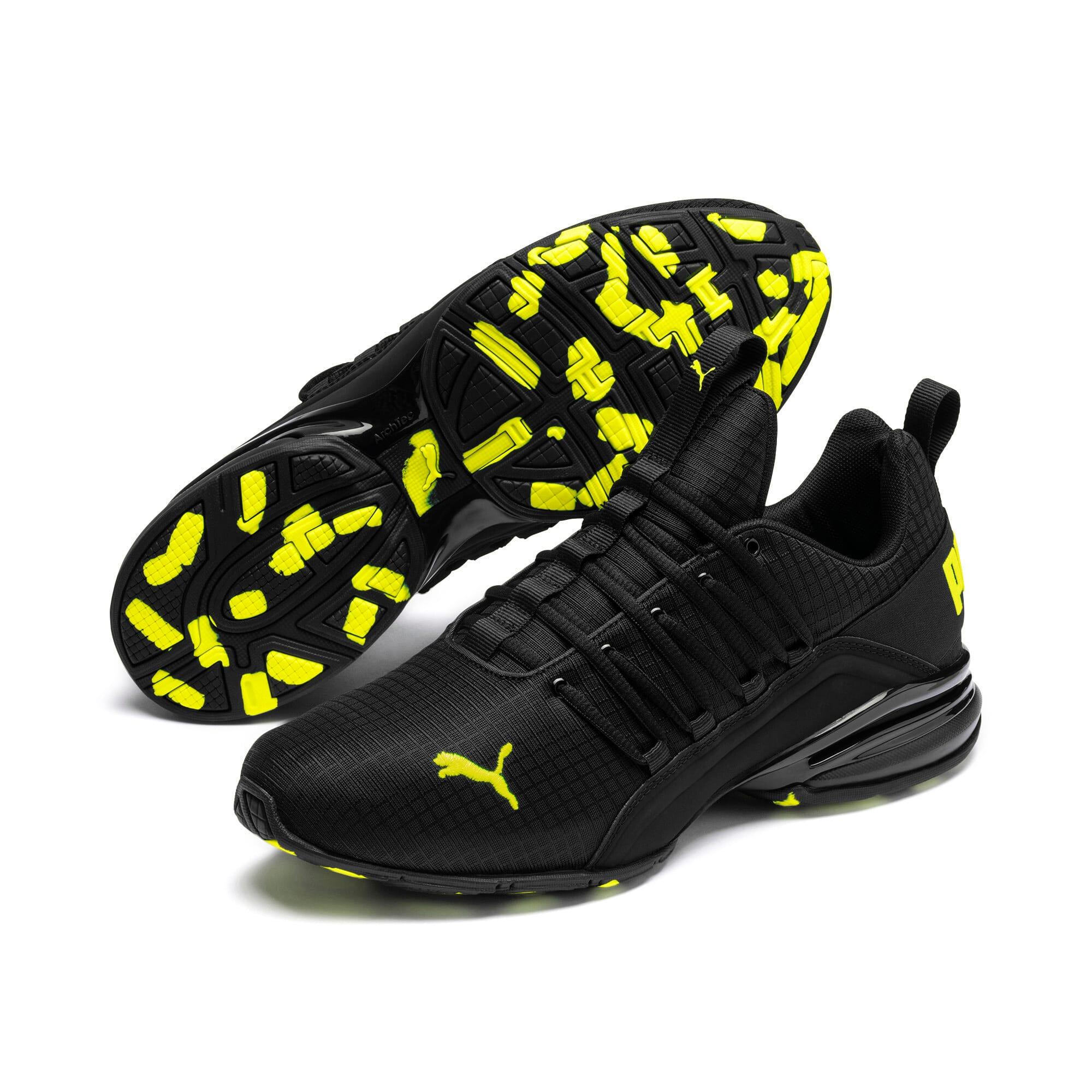 Miniatura 2 de Zapatos de entrenamiento Axelion Rip para hombre, Puma Black-Yellow Alert, mediano