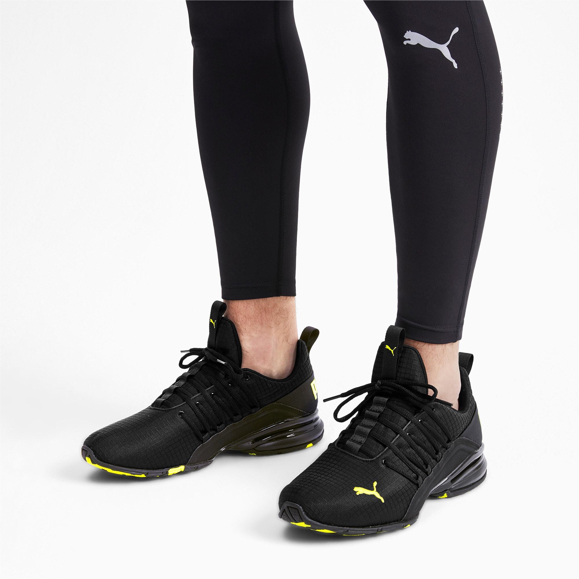 Miniatura 3 de Zapatos de entrenamiento Axelion Rip para hombre, Puma Black-Yellow Alert, mediano