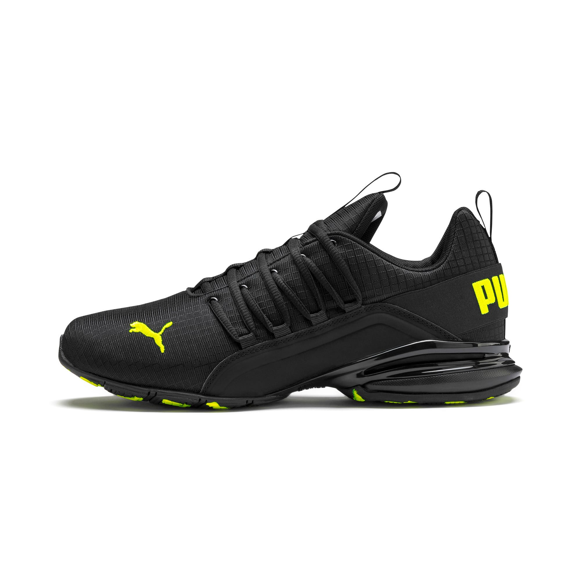 Miniatura 1 de Zapatos de entrenamiento Axelion Rip para hombre, Puma Black-Yellow Alert, mediano