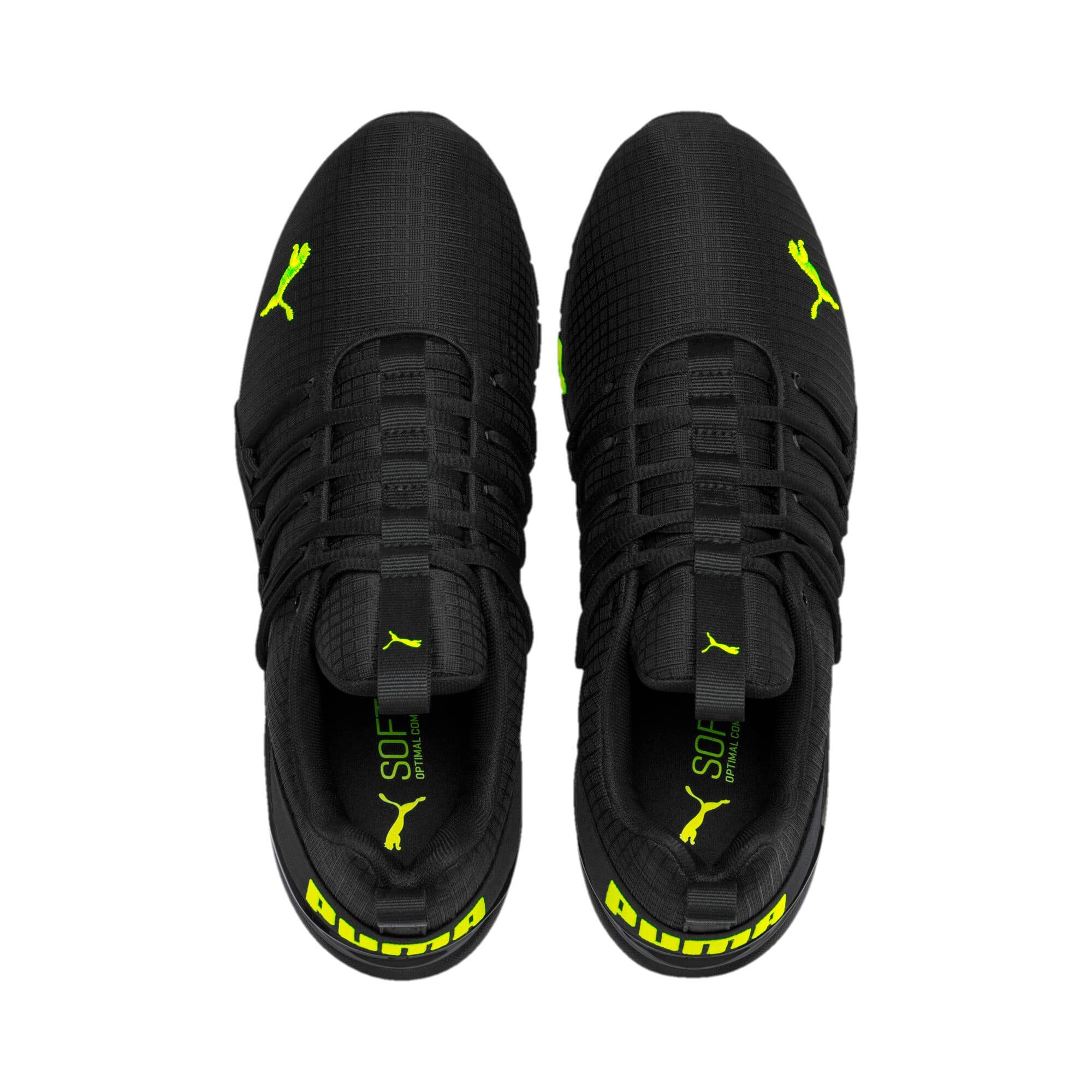 Miniatura 7 de Zapatos de entrenamiento Axelion Rip para hombre, Puma Black-Yellow Alert, mediano