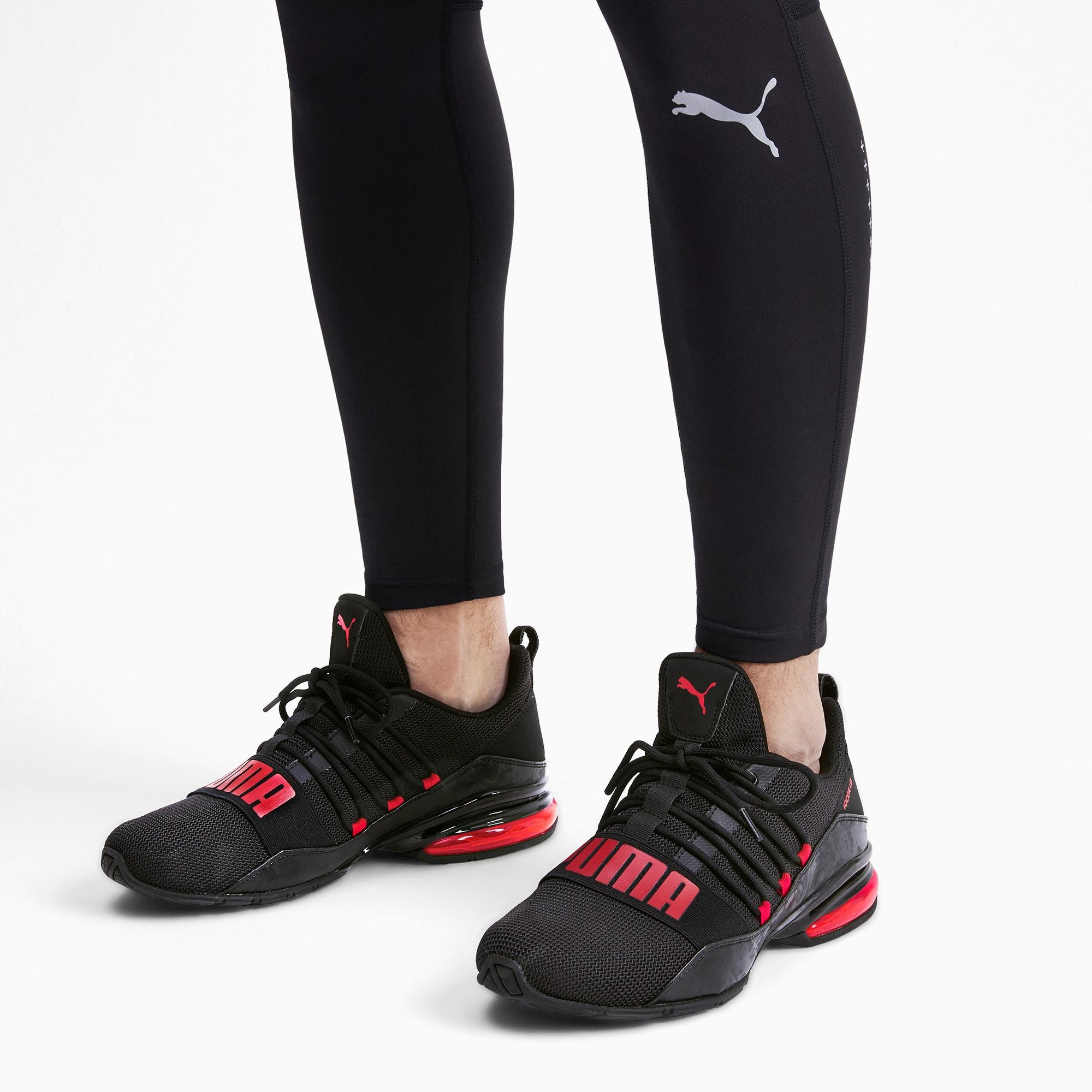 Miniatura 3 de Zapatos de entrenamiento CELL Regulate Camo para hombre, Puma Black-Rhubarb, mediano