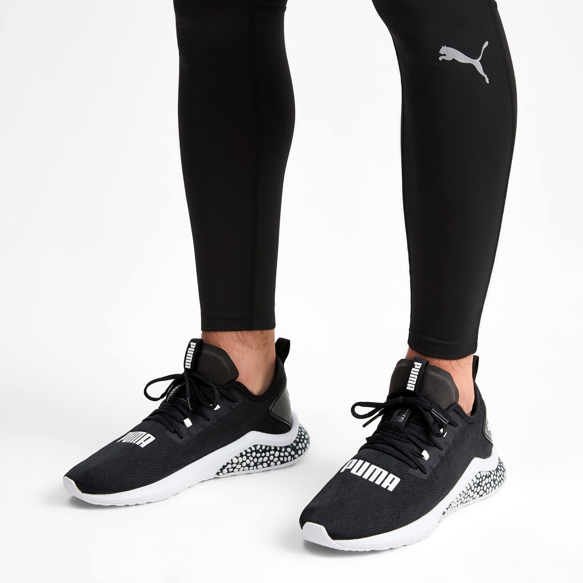 Thumbnail 2 of Hybrid NX Camo Men's Running Sneakers, Puma Black-Puma White, medium-IND