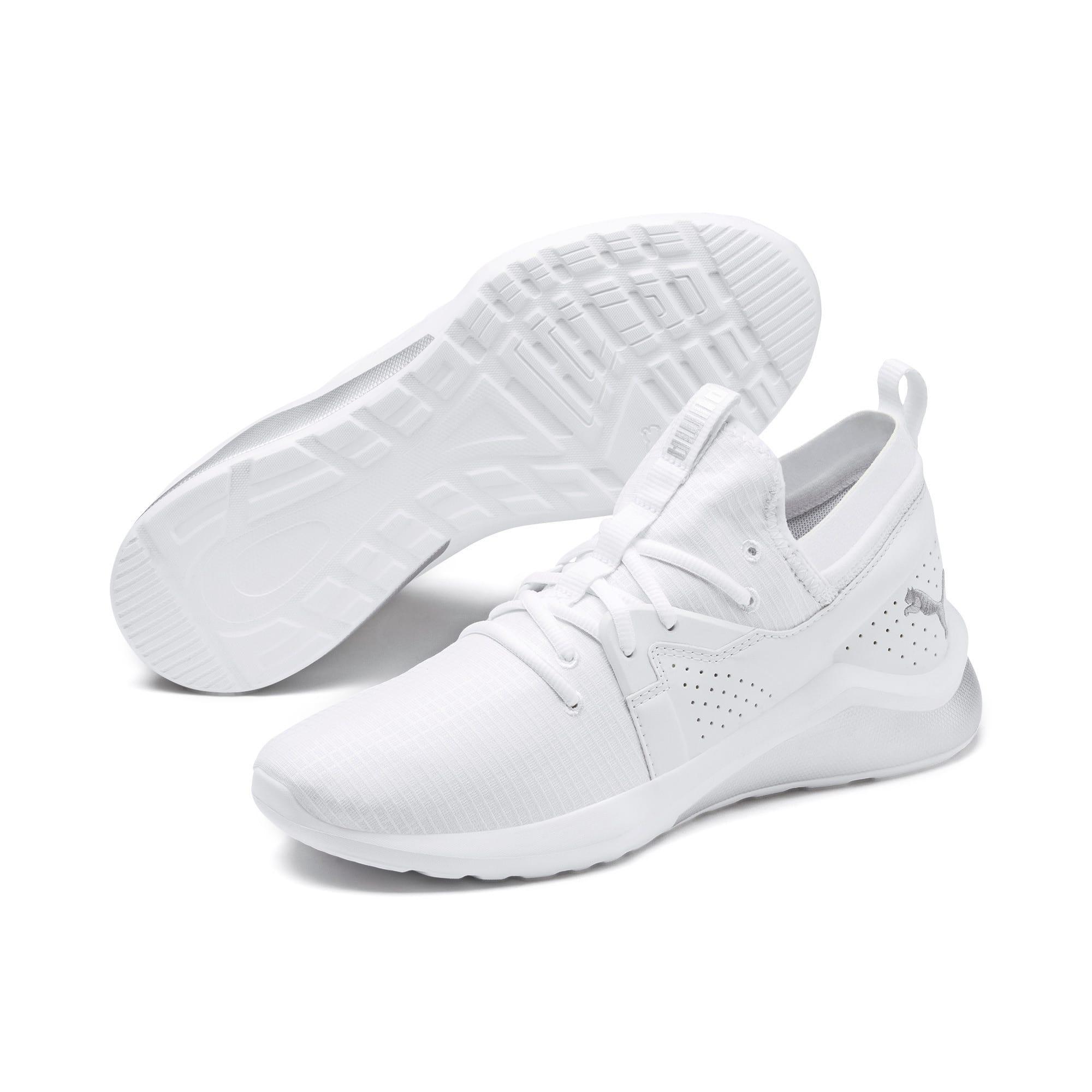 Thumbnail 8 of Emergence Lights Men's Running Shoes, Puma White-Puma Silver, medium-IND