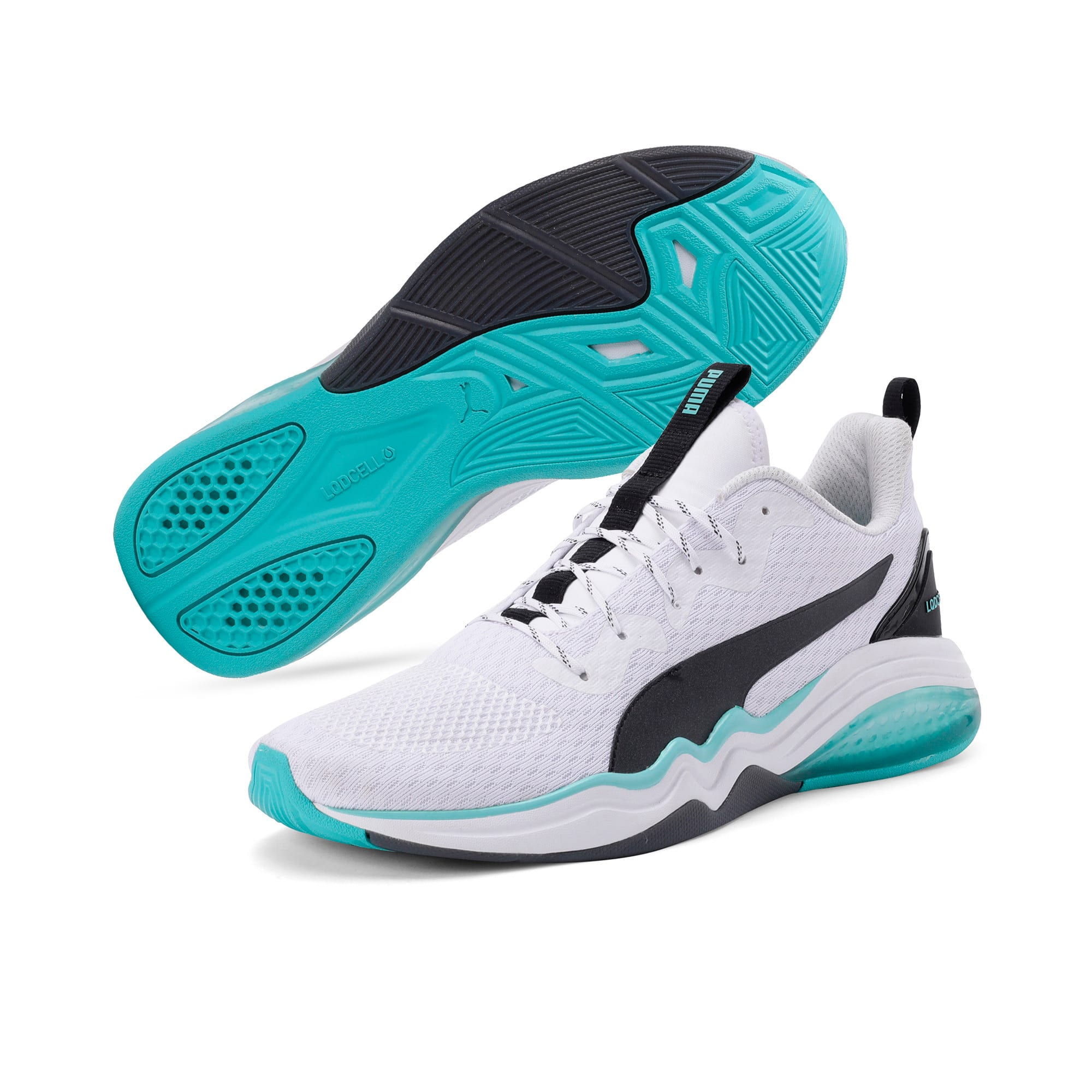 Thumbnail 4 of LQDCELL Tension Men's Training Shoes, Puma White-Blue Turquoise, medium-IND