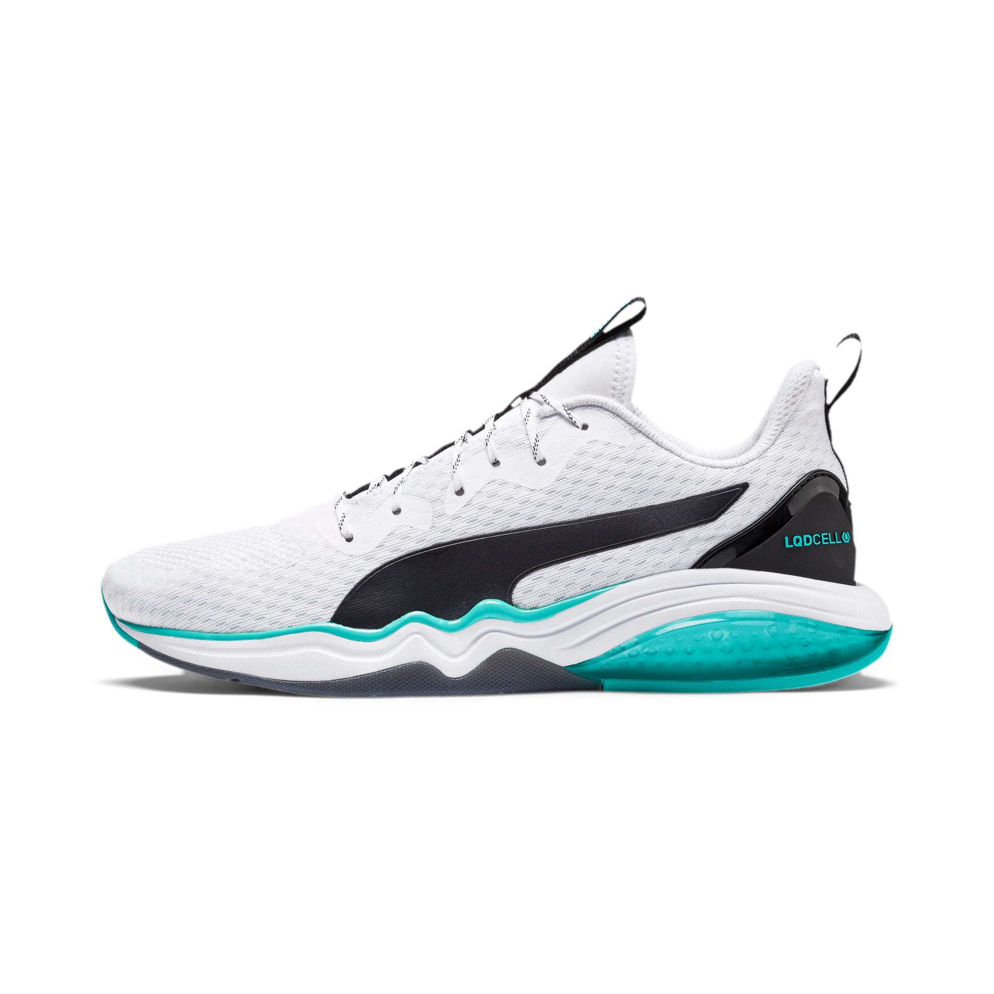 Thumbnail 1 of LQDCELL Tension Men's Training Shoes, Puma White-Blue Turquoise, medium
