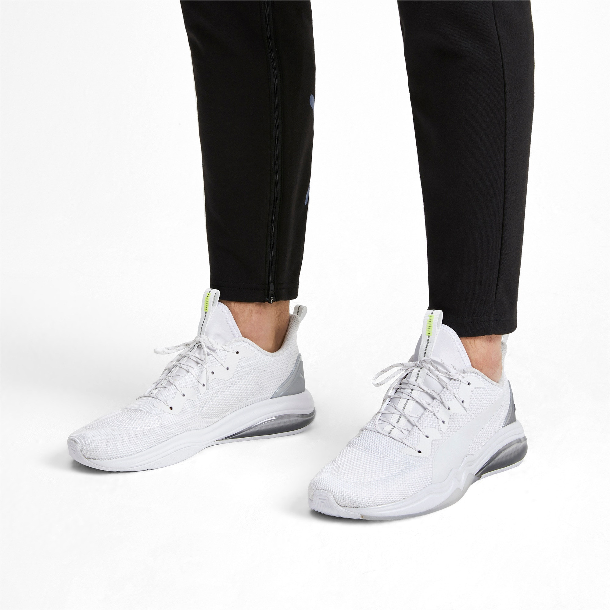 Thumbnail 2 of LQDCELL Tension Lights Men's Training Shoes, Puma White-Puma Silver, medium