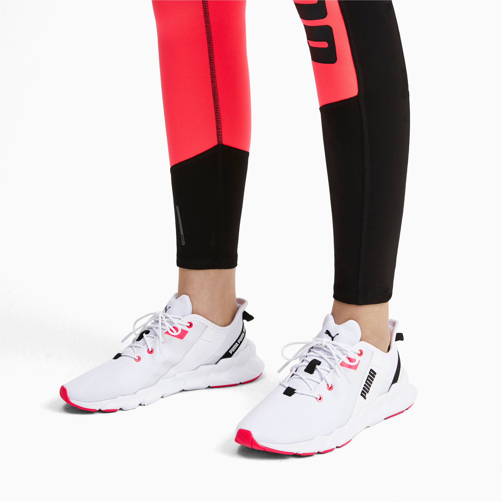 Thumbnail 2 of Weave XT Women's Training Shoes, Puma White-Pink Alert, medium