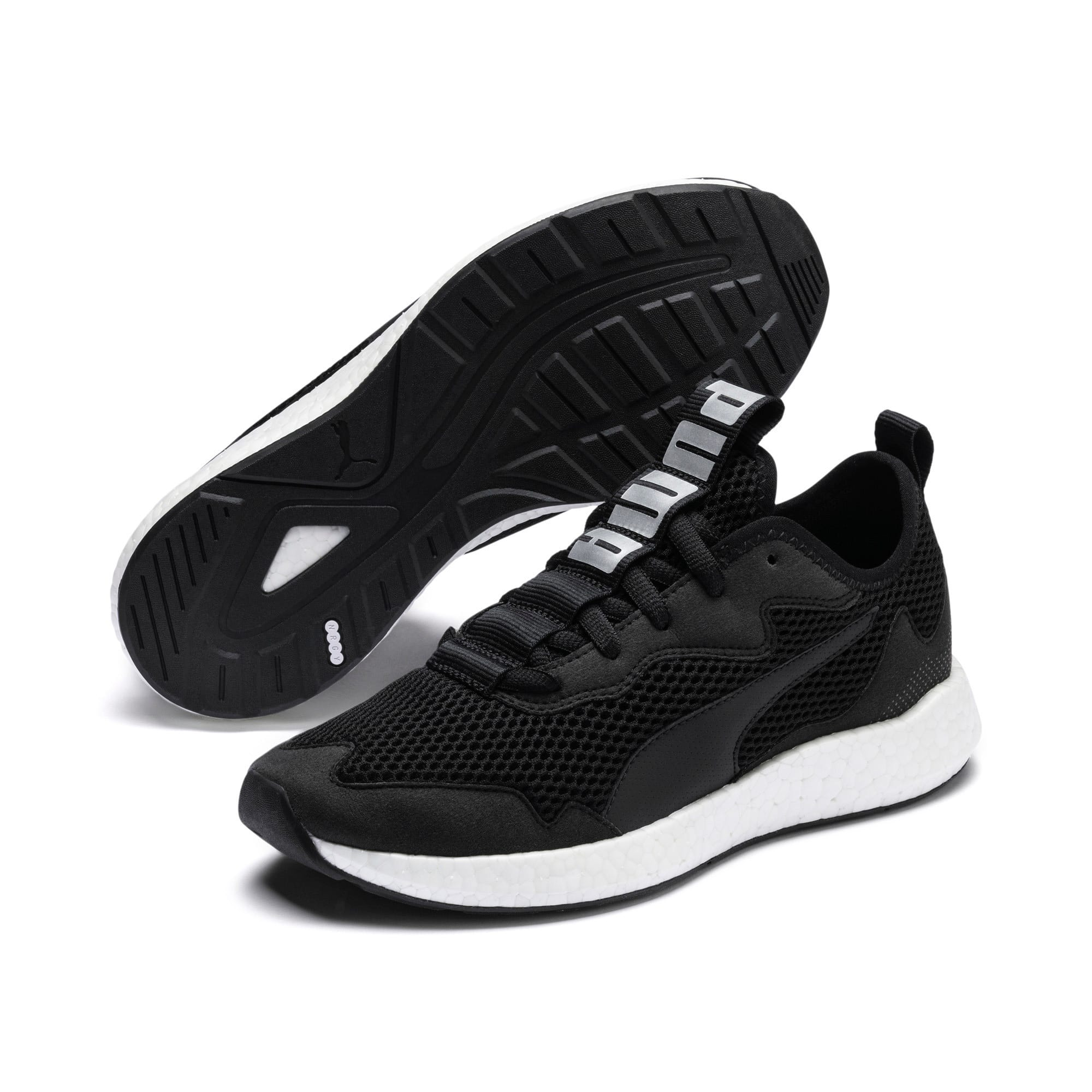 Thumbnail 3 of NRGY Neko Skim Women's Running Shoes, Puma Black-Puma Silver, medium
