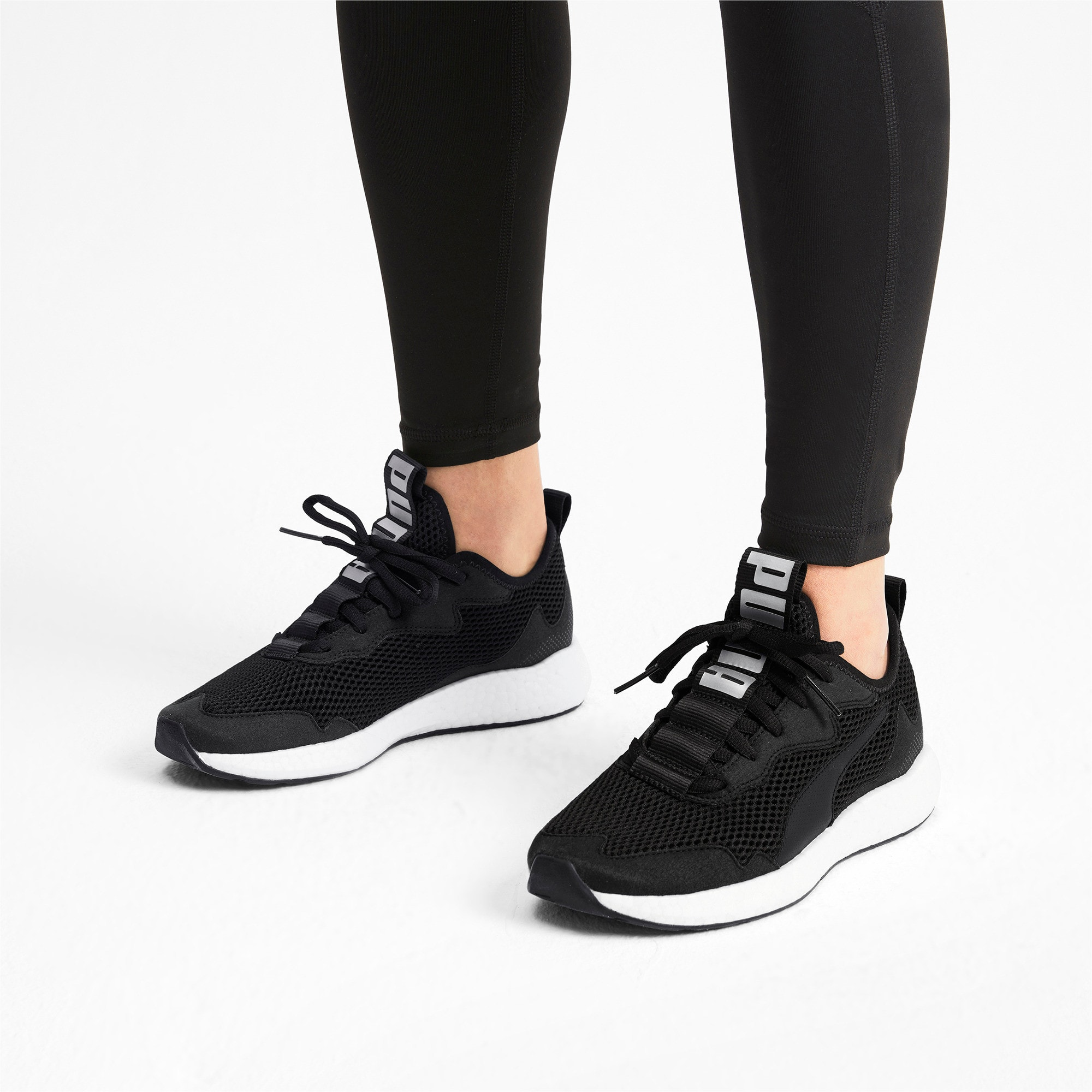 Thumbnail 2 of NRGY Neko Skim Women's Running Shoes, Puma Black-Puma Silver, medium
