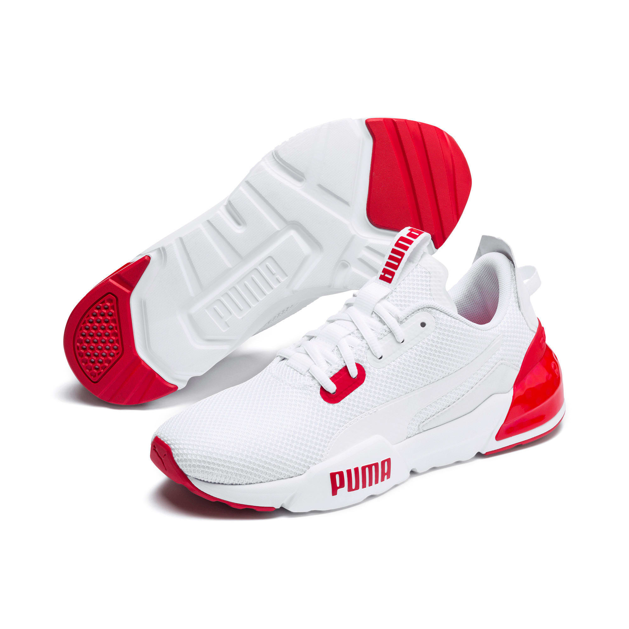 Thumbnail 3 of CELL Phase Men's Training Shoes, Puma White-High Risk Red, medium