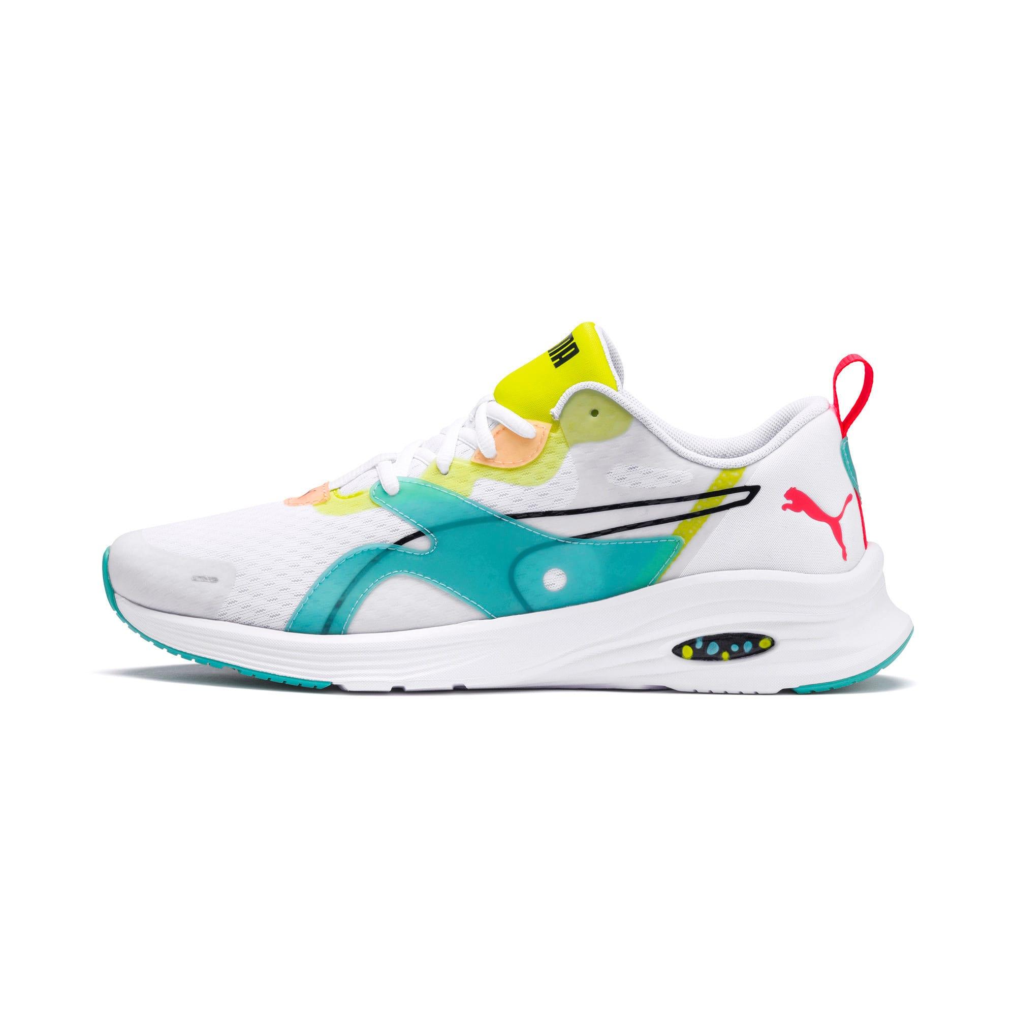 Thumbnail 1 of HYBRID Fuego Men's Running Shoes, White-Nrgy Rose-Yellow Alert, medium