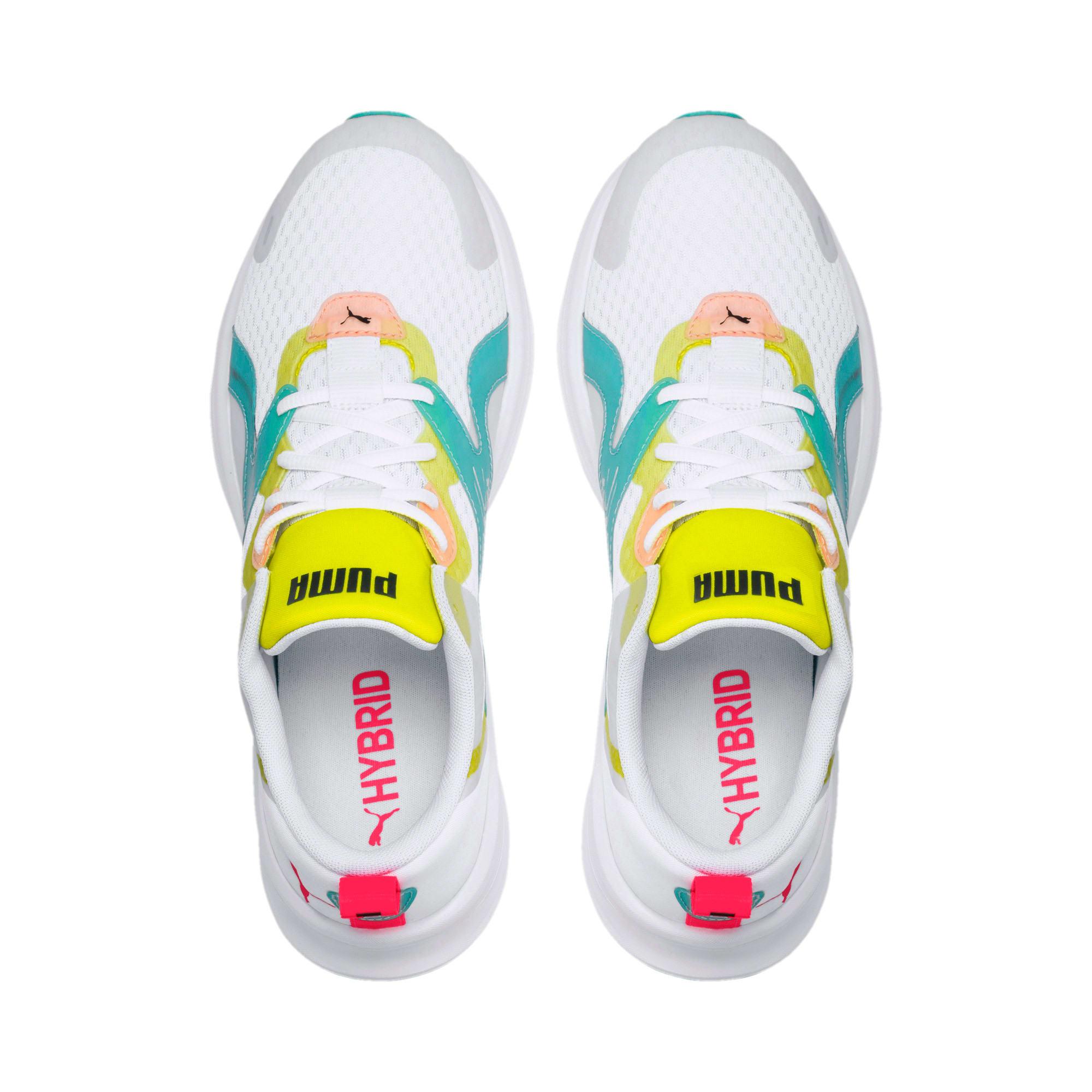 Thumbnail 6 of HYBRID Fuego Men's Running Shoes, White-Nrgy Rose-Yellow Alert, medium