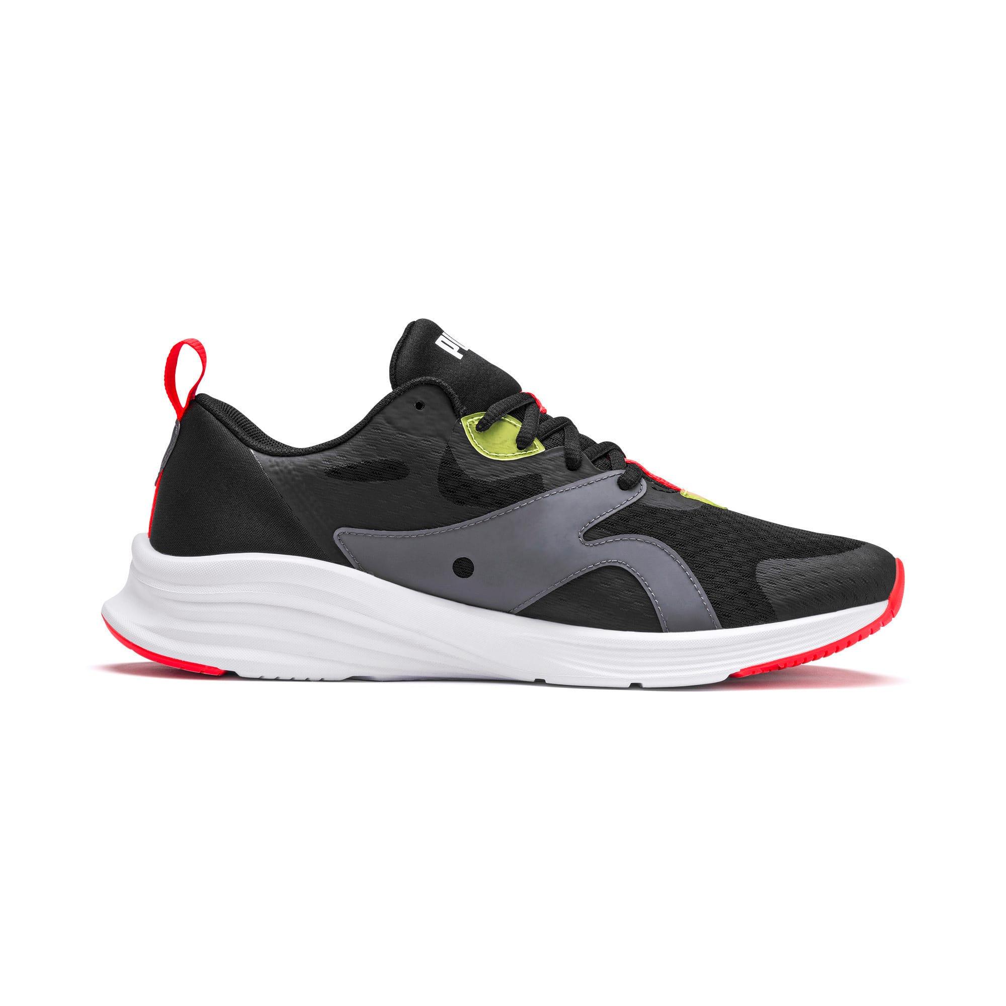 Thumbnail 3 of HYBRID Fuego Men's Running Shoes, Puma Black-Yellow Alert, medium-IND