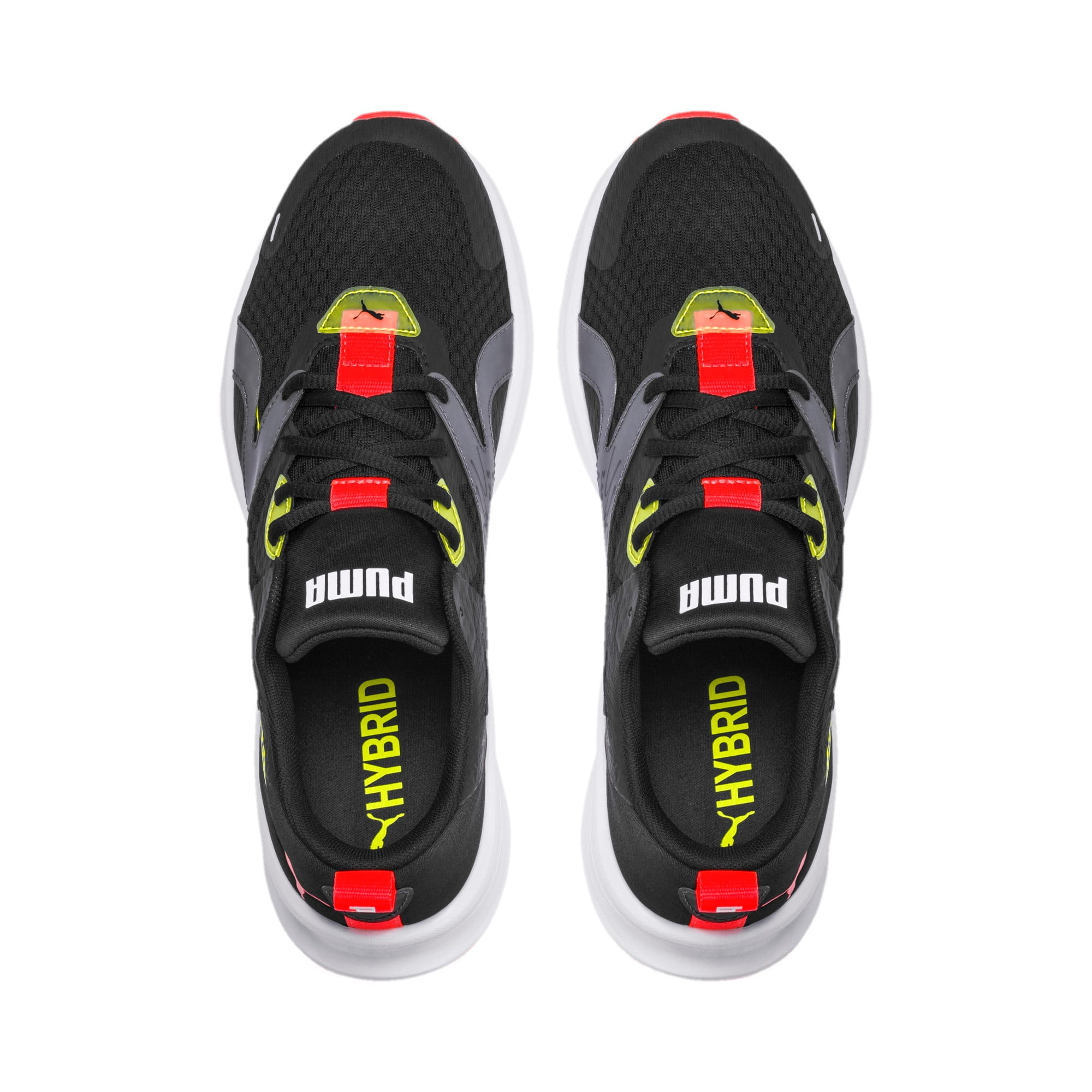 Thumbnail 2 of HYBRID Fuego Men's Running Shoes, Puma Black-Yellow Alert, medium-IND