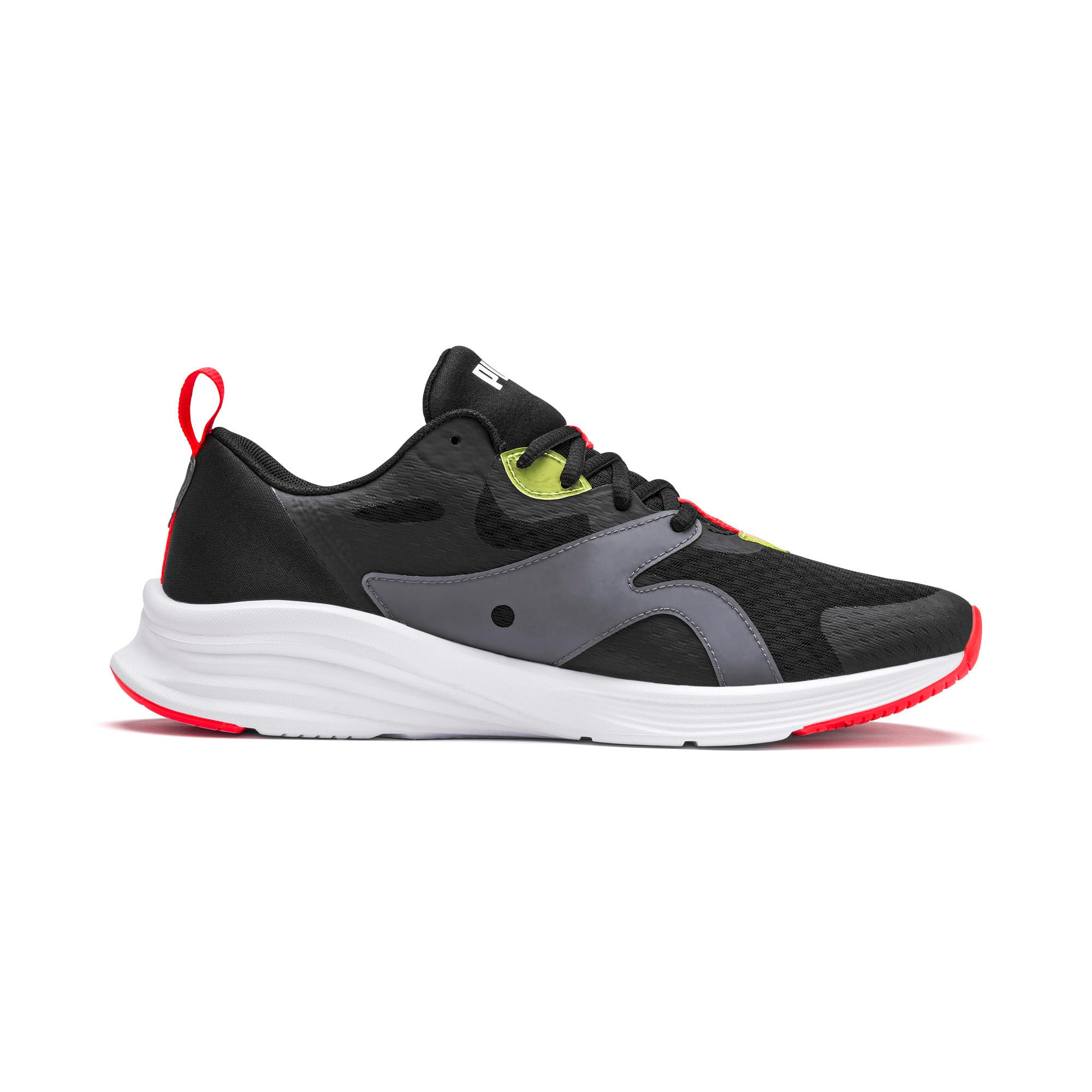 Thumbnail 5 of HYBRID Fuego Men's Running Shoes, Puma Black-Yellow Alert, medium