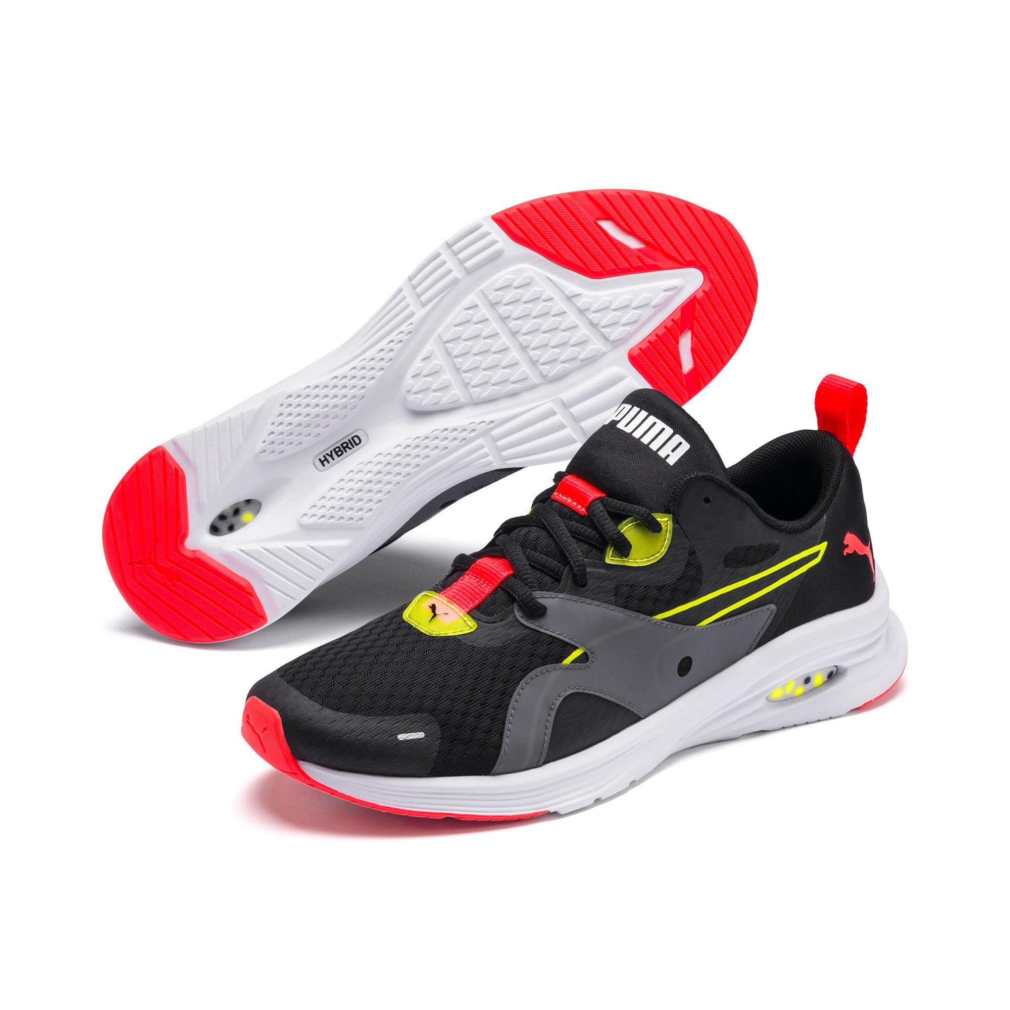 Thumbnail 6 of HYBRID Fuego Men's Running Shoes, Puma Black-Yellow Alert, medium-IND