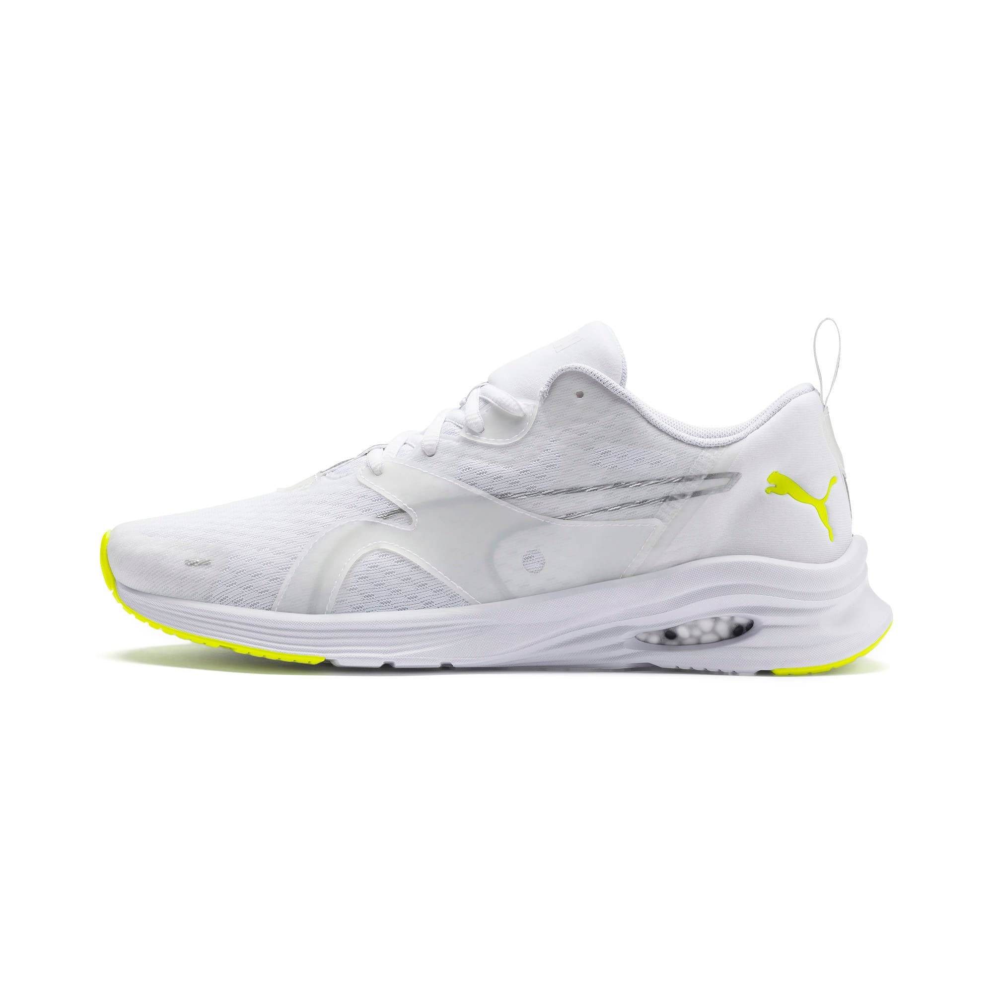Thumbnail 1 of HYBRID Fuego Men's Running Shoes, Puma White-Yellow Alert, medium