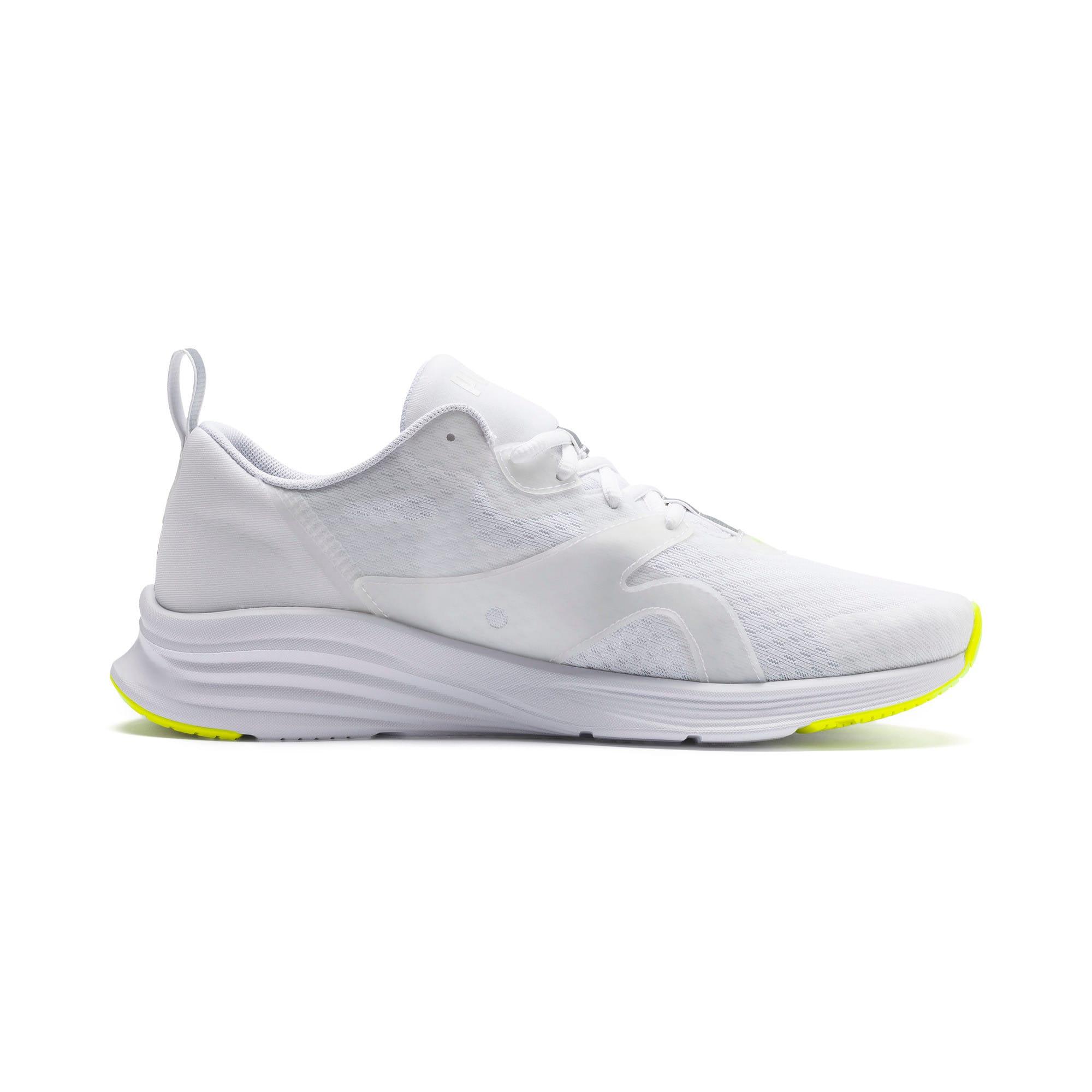 Thumbnail 6 of HYBRID Fuego Men's Running Shoes, Puma White-Yellow Alert, medium