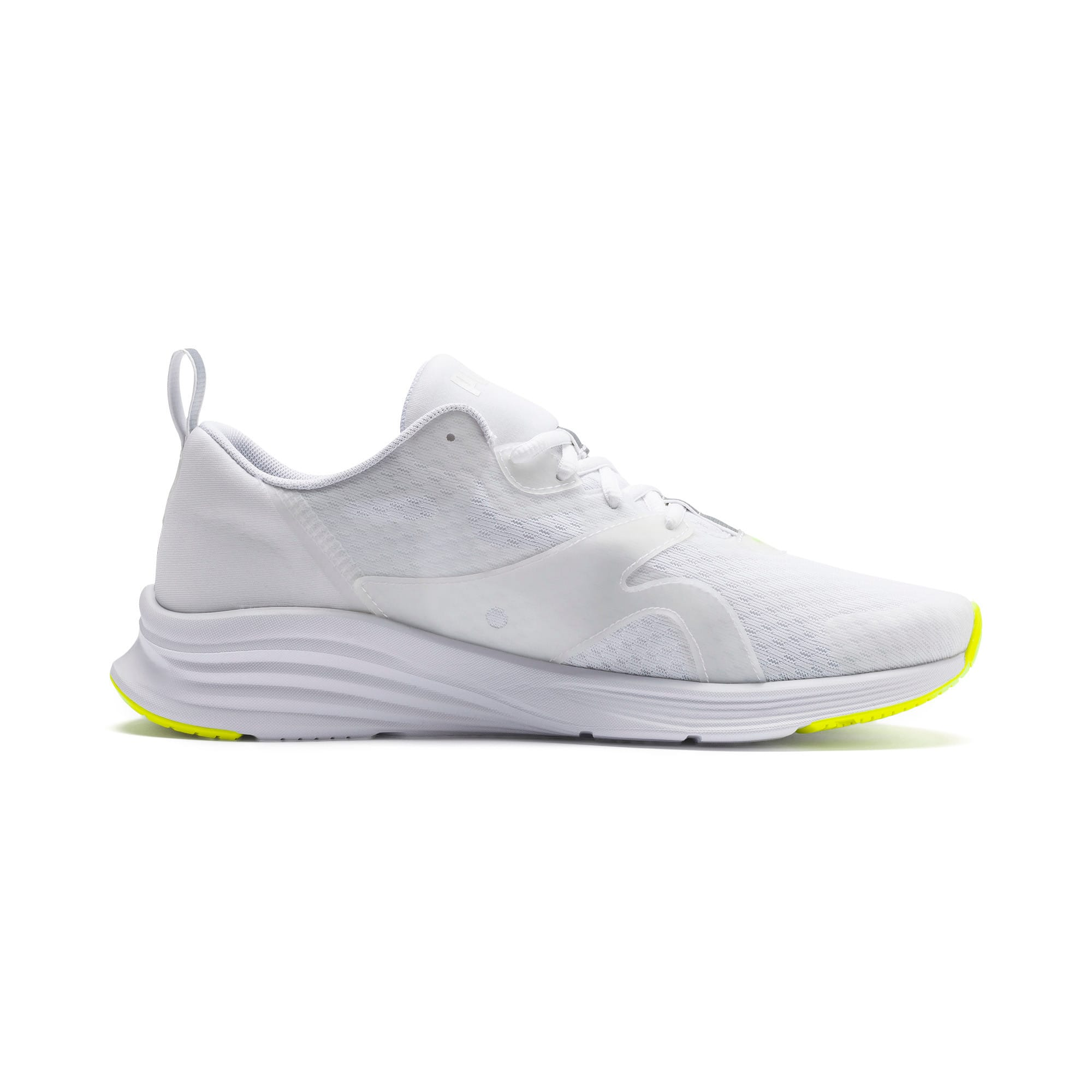HYBRID Fuego Lights Men's Running Shoes, Puma White-Yellow Alert, large