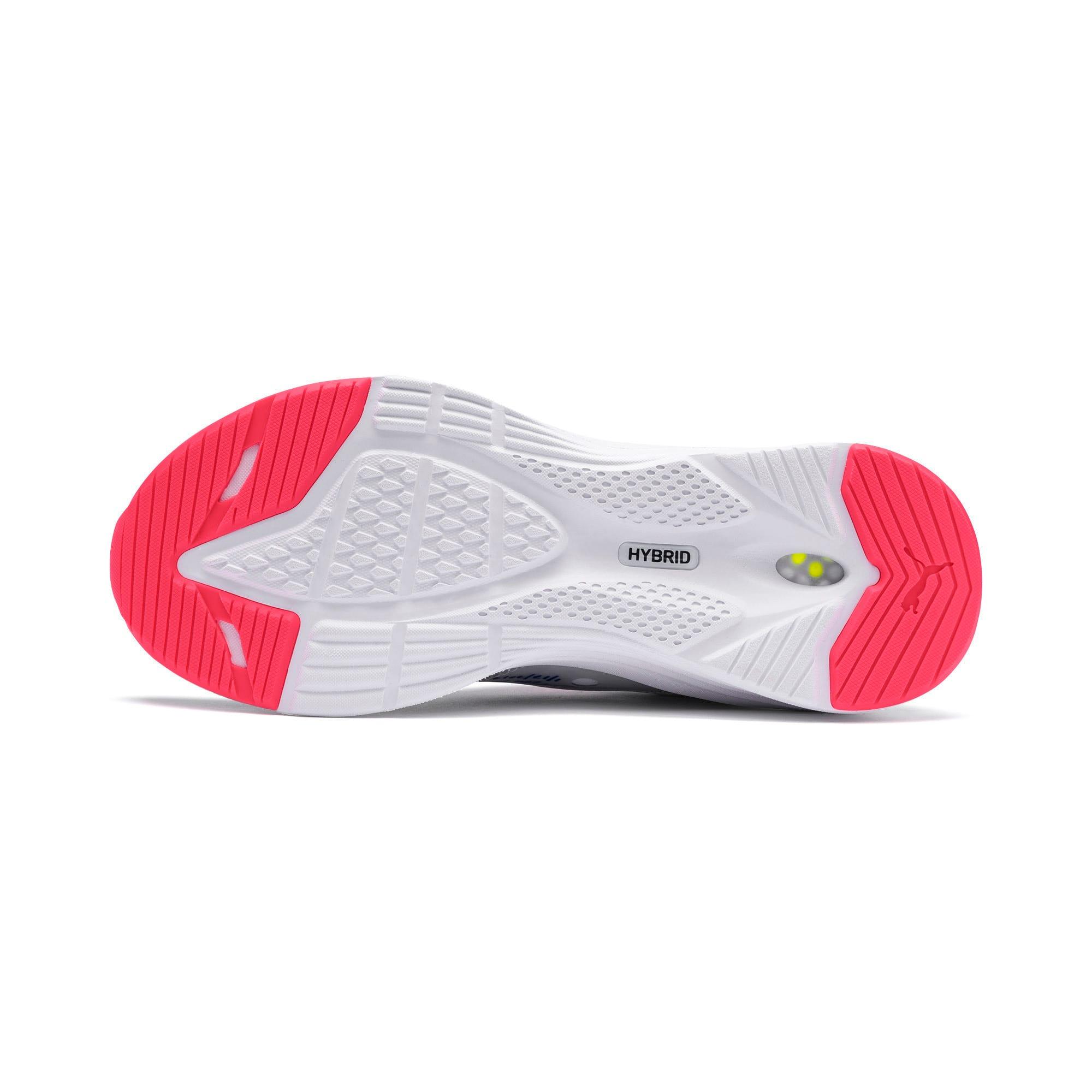 Thumbnail 4 of HYBRID Fuego Women's Running Shoes, White-PinkAlert-YellowAlert, medium