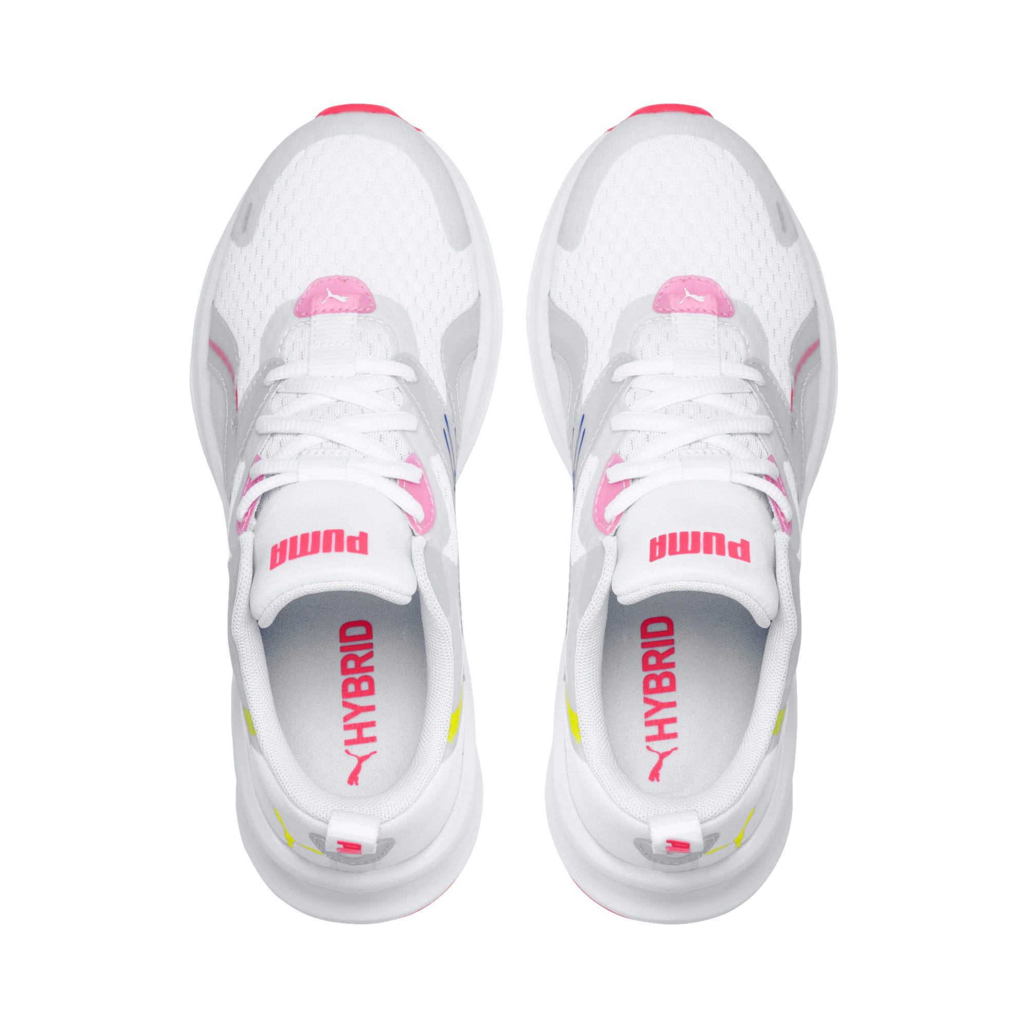 Thumbnail 6 of HYBRID Fuego Women's Running Trainers, White-PinkAlert-YellowAlert, medium