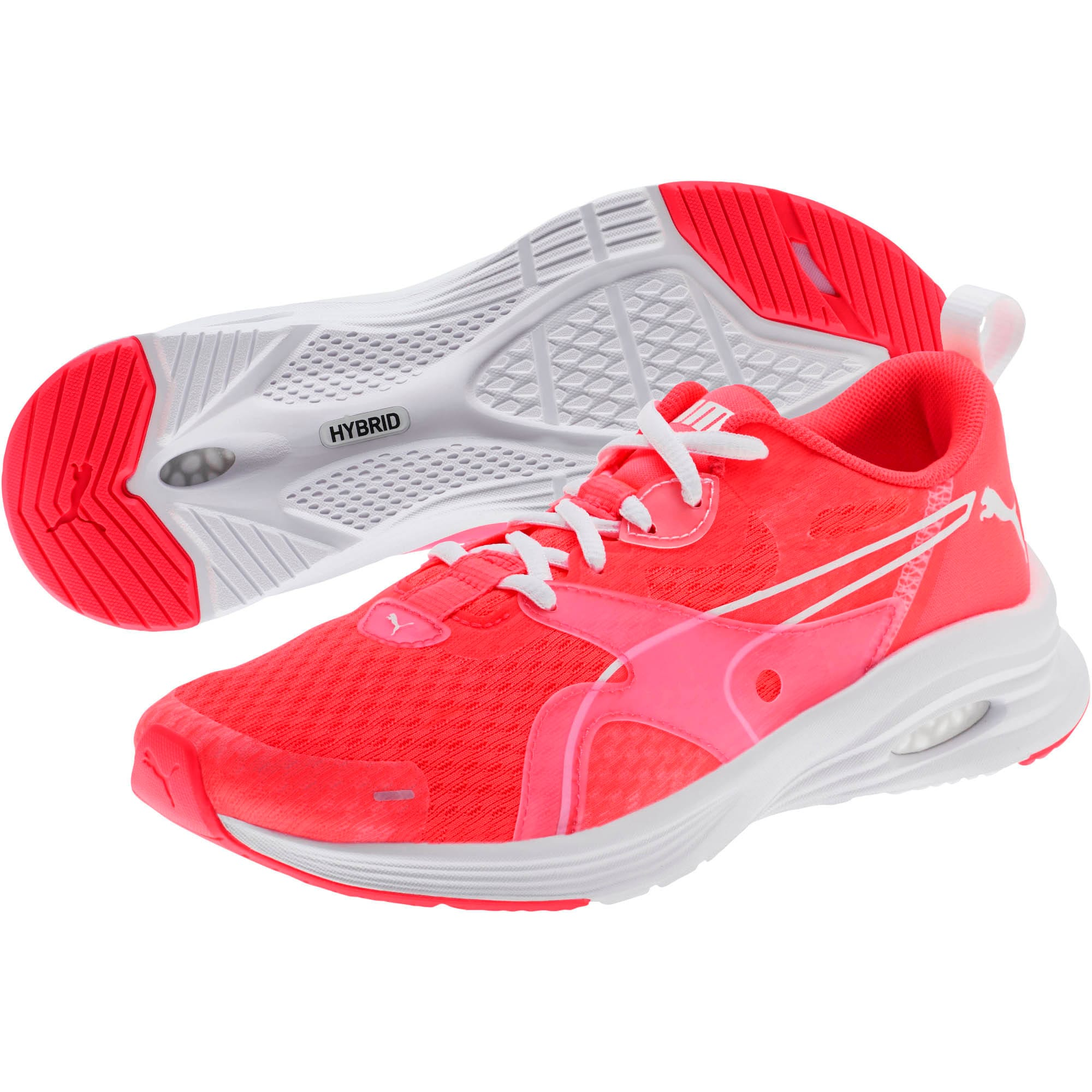 Thumbnail 2 of HYBRID Fuego Women's Running Shoes, Pink Alert-Puma White, medium