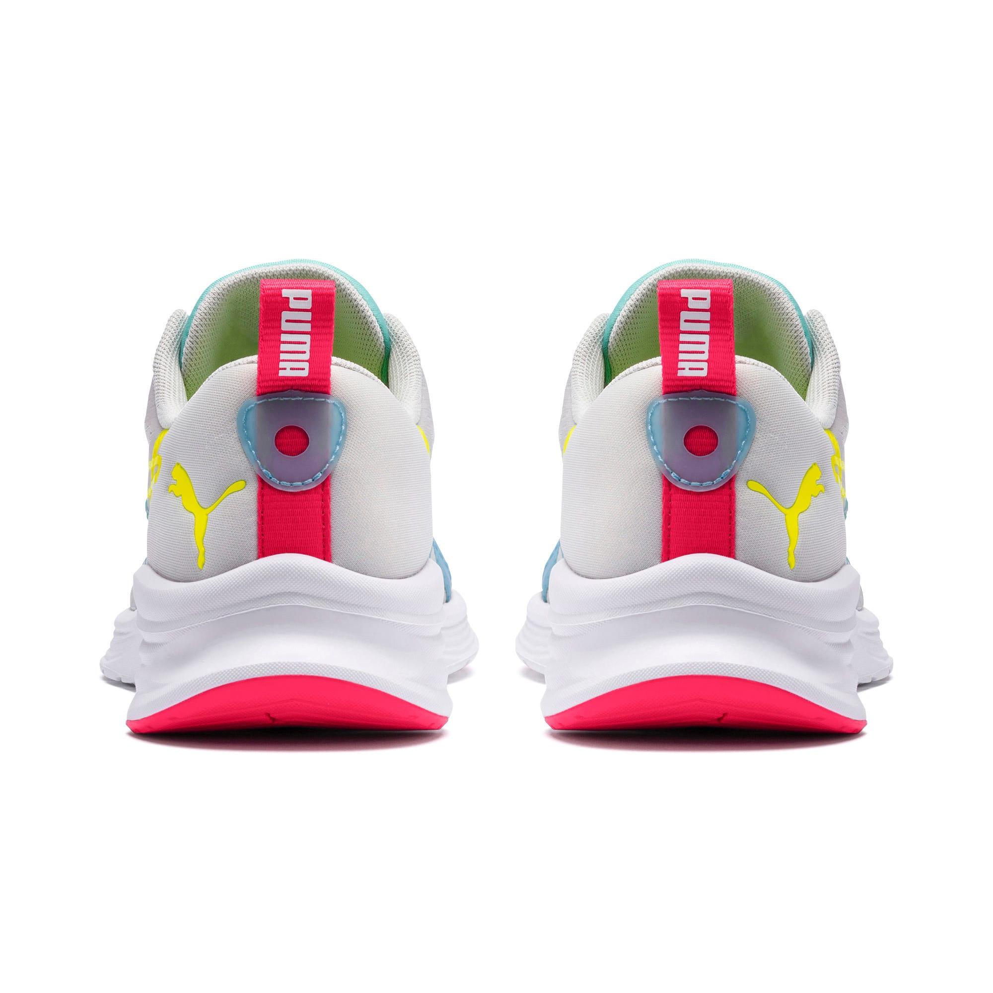 Thumbnail 3 of HYBRID Fuego Women's Running Shoes, Gray-YellowAlert-NrgyRose, medium