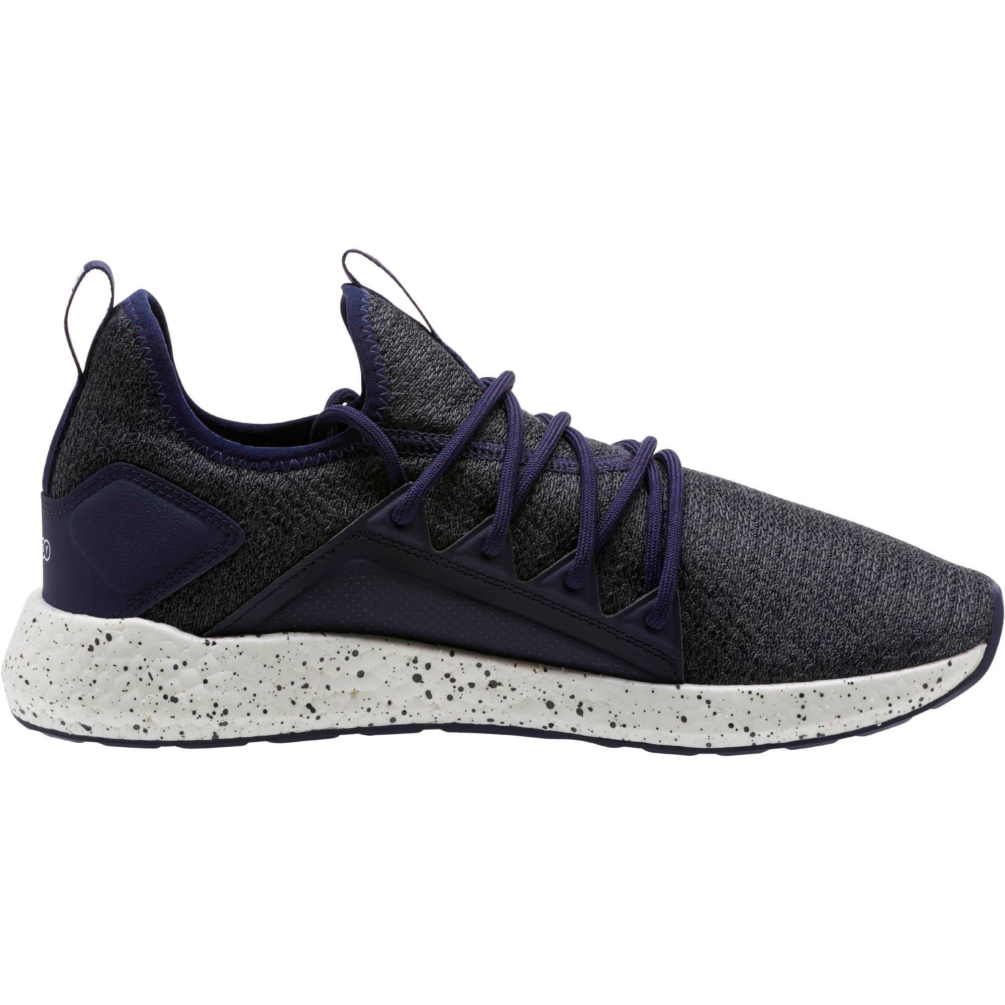 Thumbnail 3 of NRGY Neko Knit Speckle Men's Running Shoes, Peacoat-Puma White, medium
