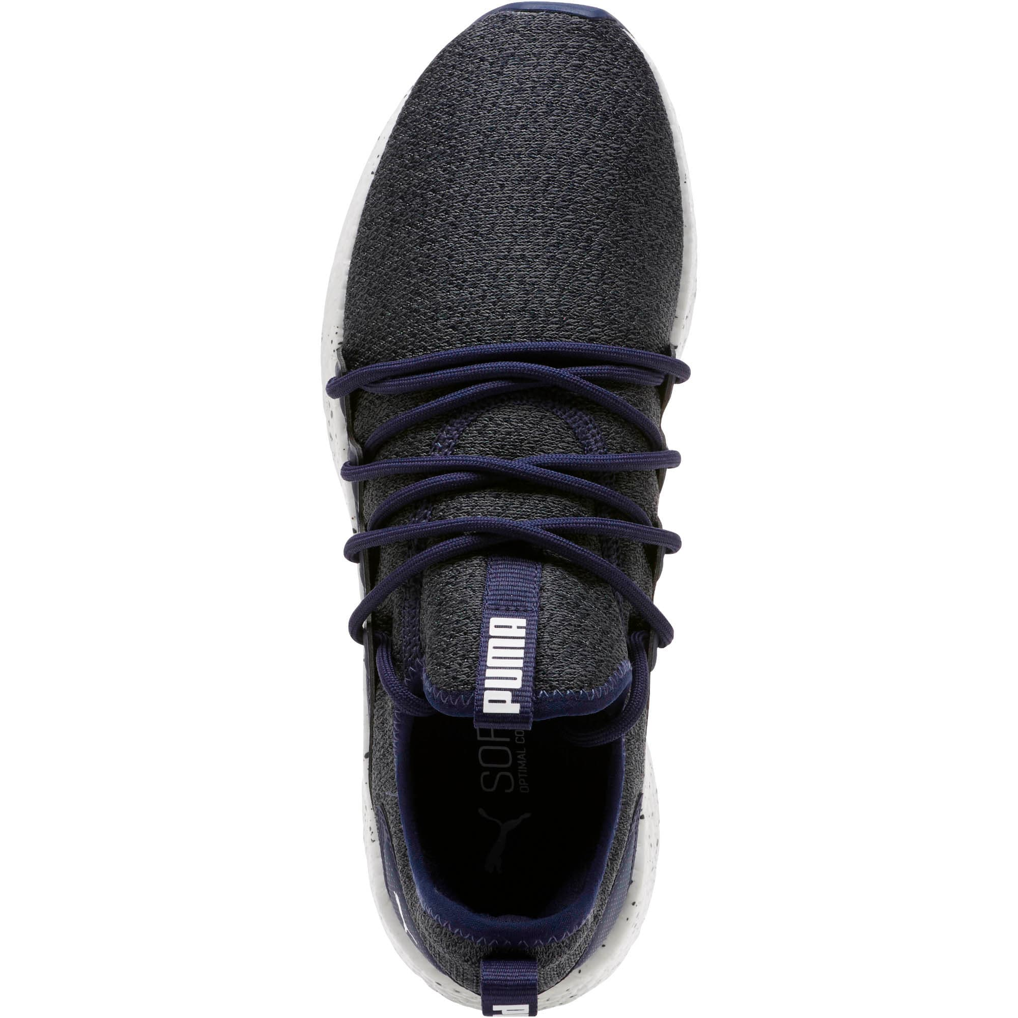 Thumbnail 5 of NRGY Neko Knit Speckle Men's Running Shoes, Peacoat-Puma White, medium