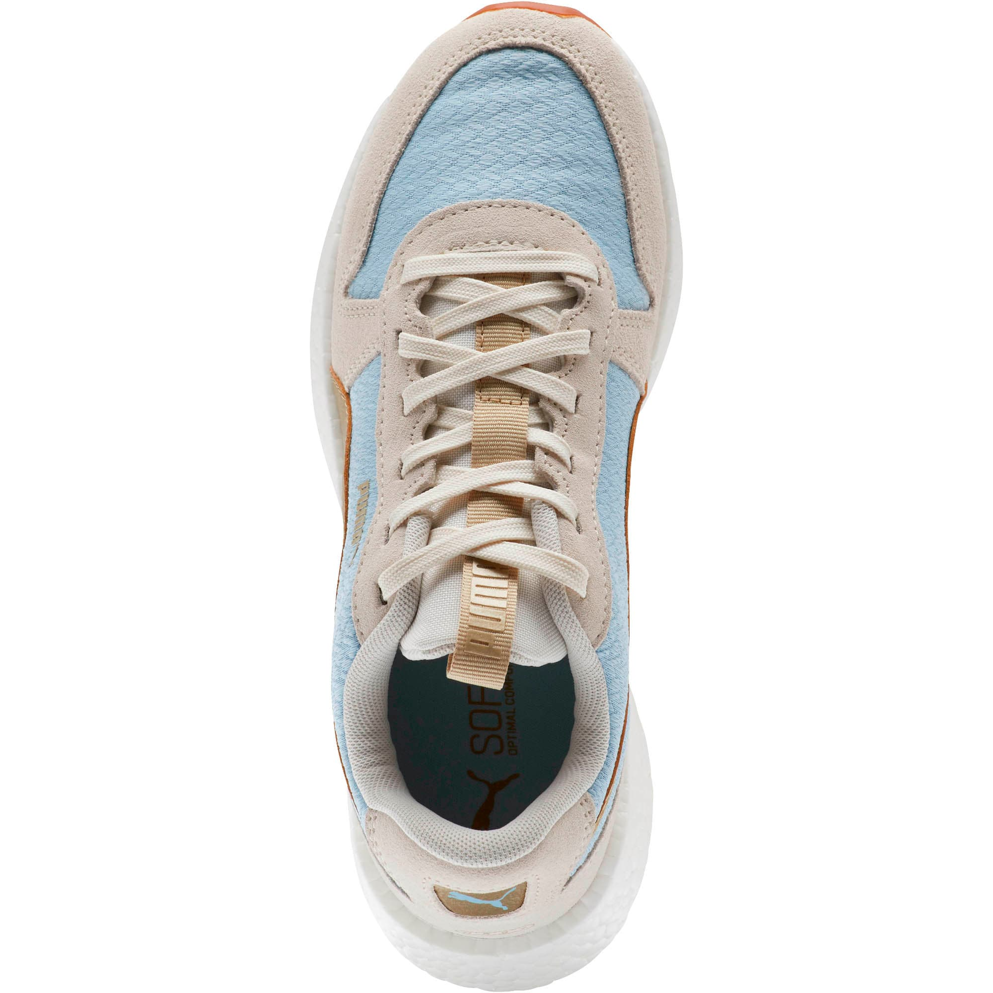 Thumbnail 5 of NRGY Neko Retro Sweet Women's Street Running Shoes, Light Sky- White- Gold, medium