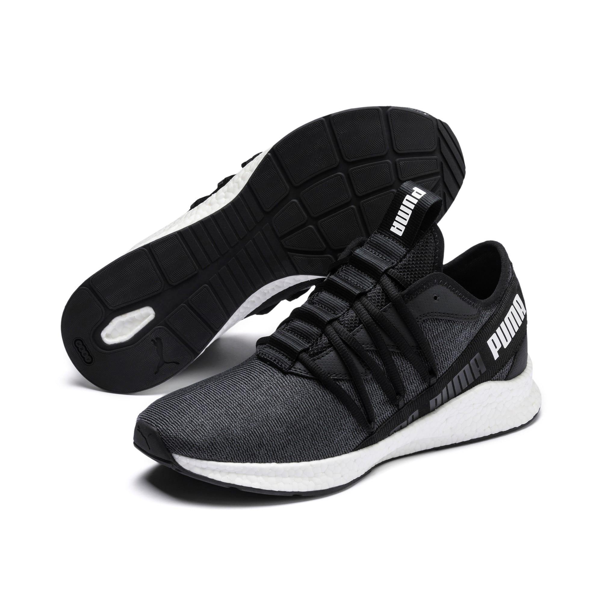 Thumbnail 3 of NRGY Star Knit Running Shoes, Puma Black-Puma White, medium