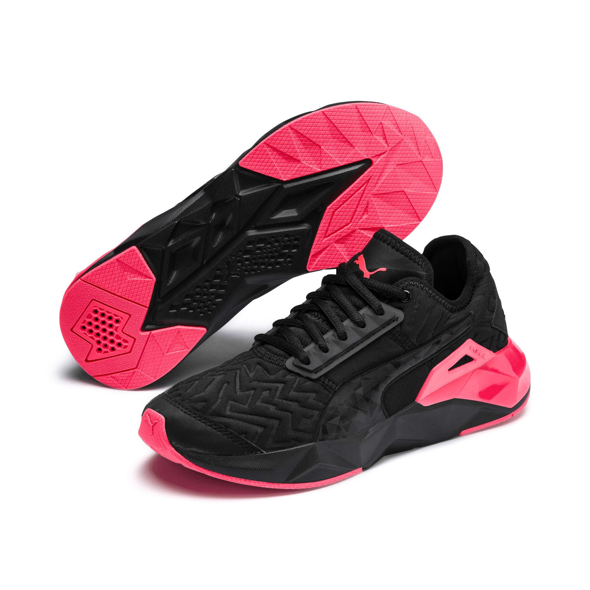 Thumbnail 2 of CELL Plasmic Fluorescent Women's Training Shoes, Puma Black-Pink Alert, medium