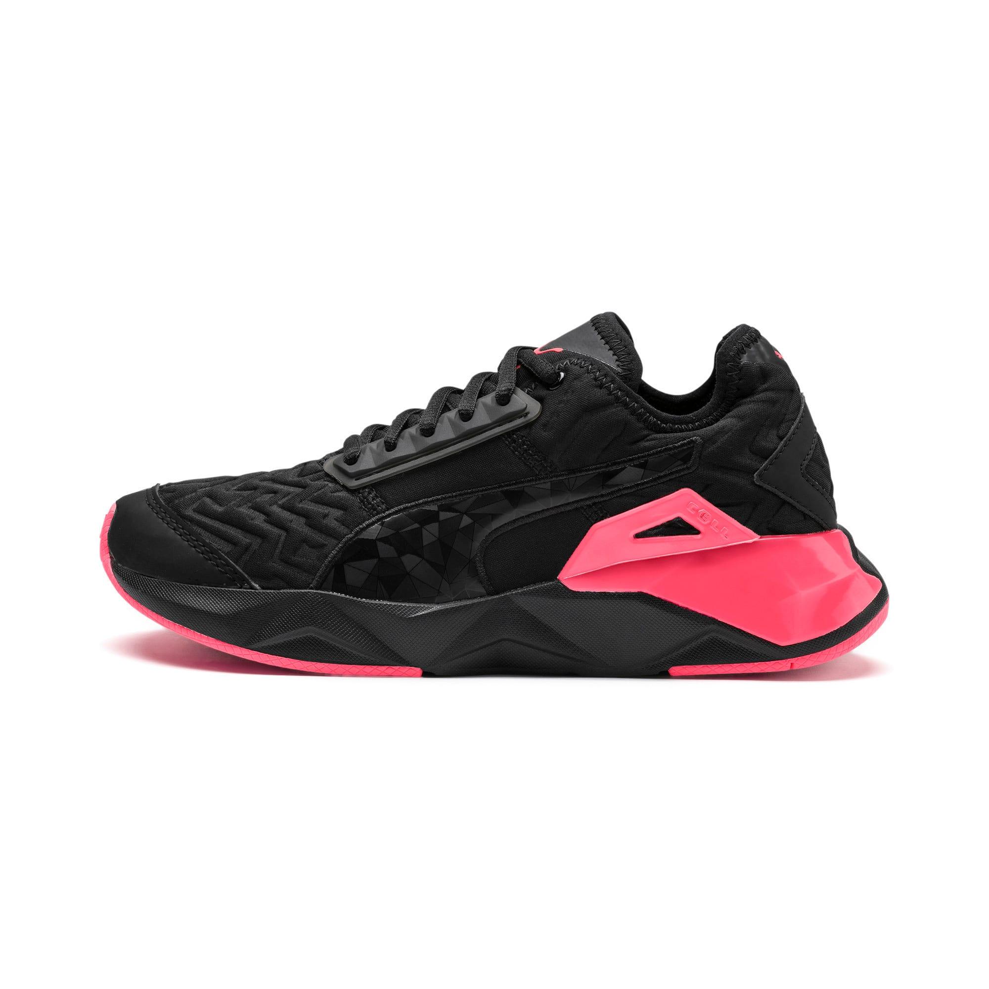 Thumbnail 1 of CELL Plasmic Fluorescent Women's Training Shoes, Puma Black-Pink Alert, medium