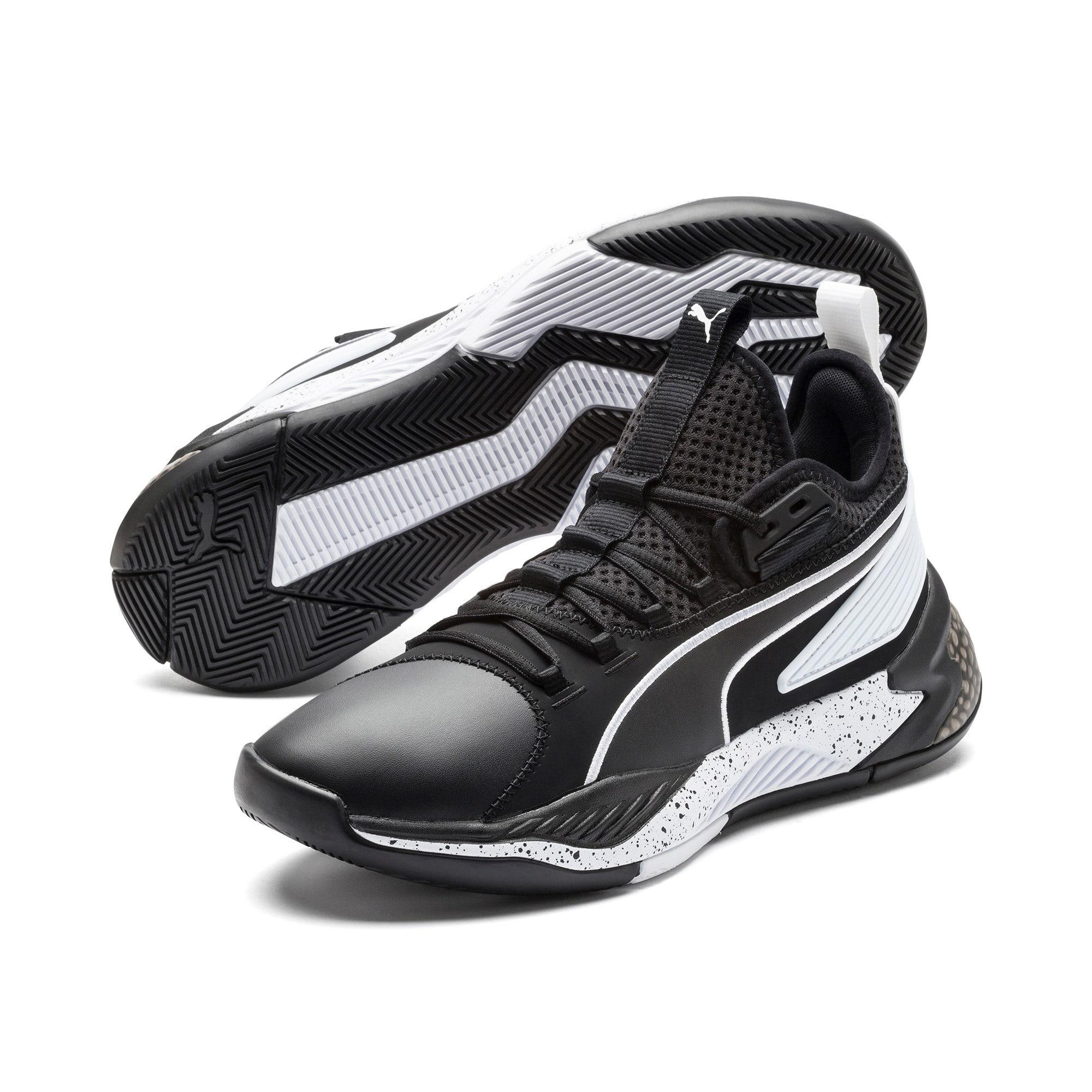 Thumbnail 2 of Uproar Core Basketball Shoes, Puma Black, medium