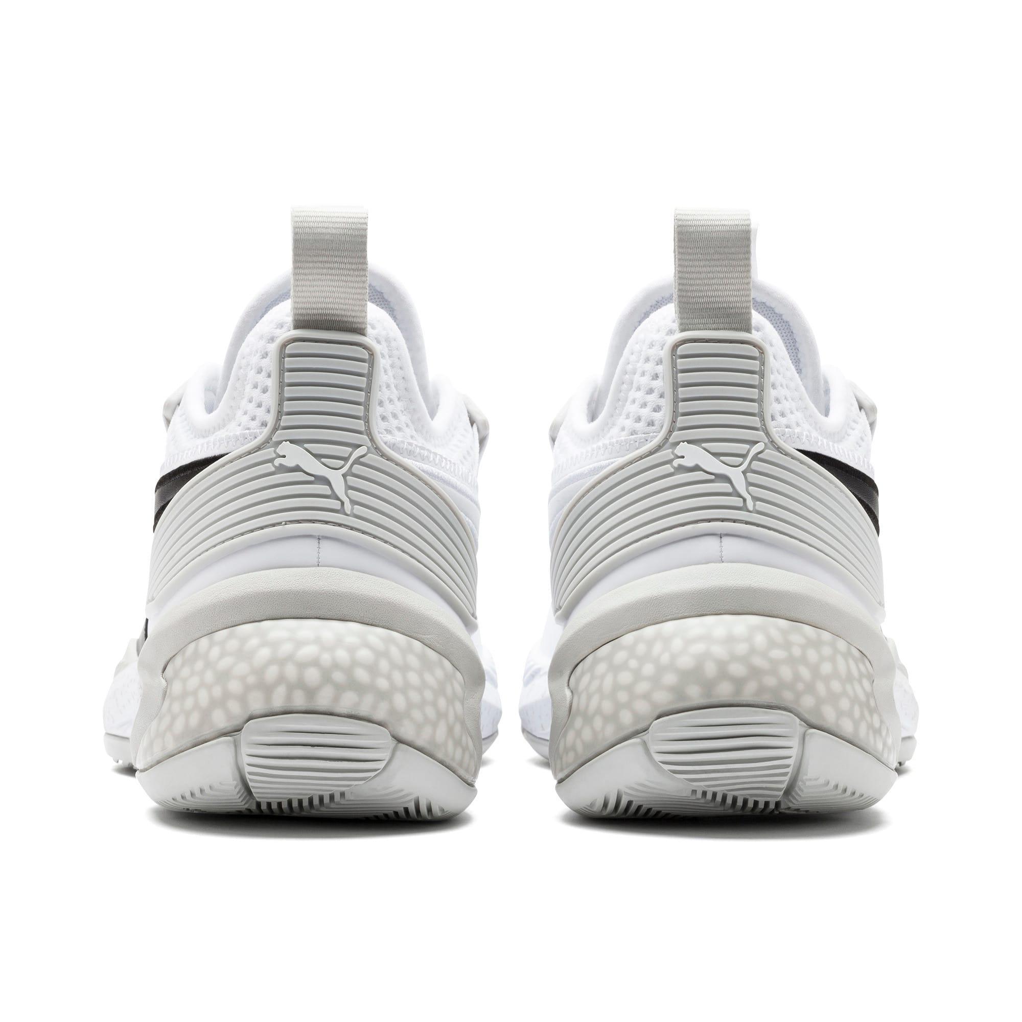 Thumbnail 3 of Uproar Core Men's Basketball Shoes, Puma White-Glacier Gray, medium