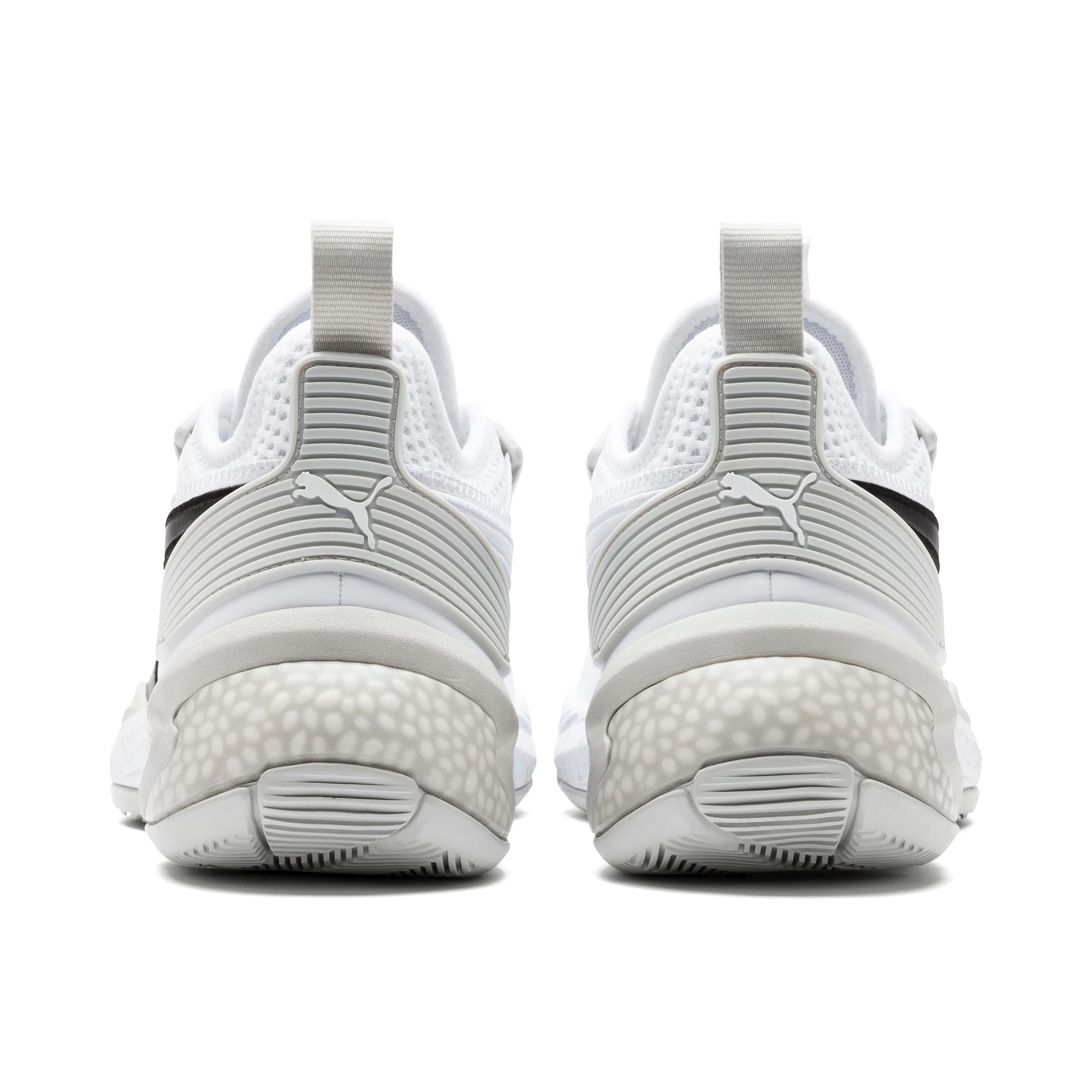 Thumbnail 3 of Uproar Core Basketball Shoes, Puma White-Glacier Gray, medium