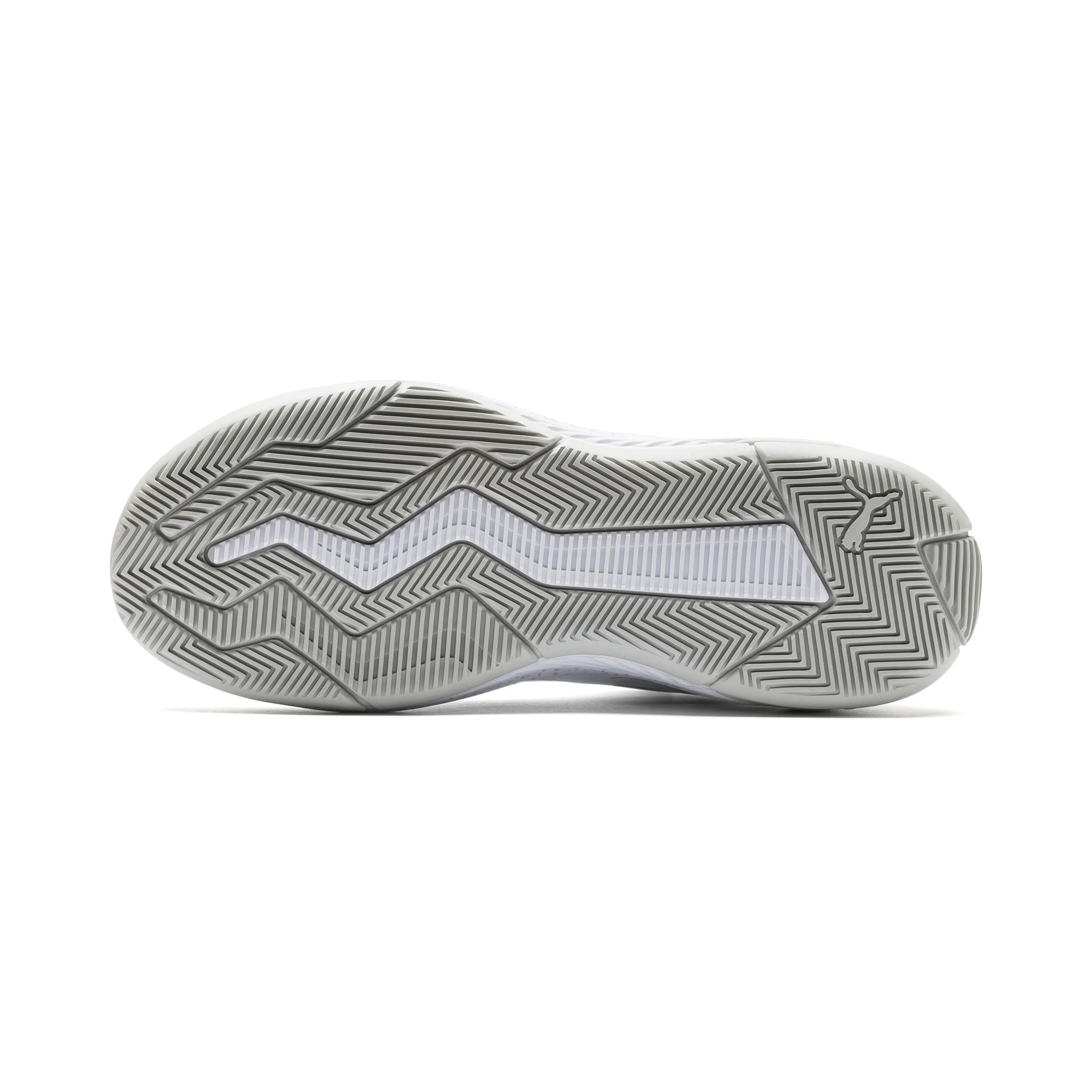 Thumbnail 4 of Uproar Core Basketball Shoes, Puma White-Glacier Gray, medium