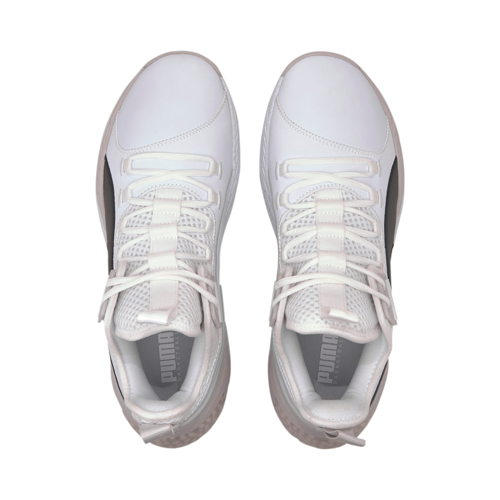 Thumbnail 6 of Uproar Core Men's Basketball Shoes, Puma White-Glacier Gray, medium
