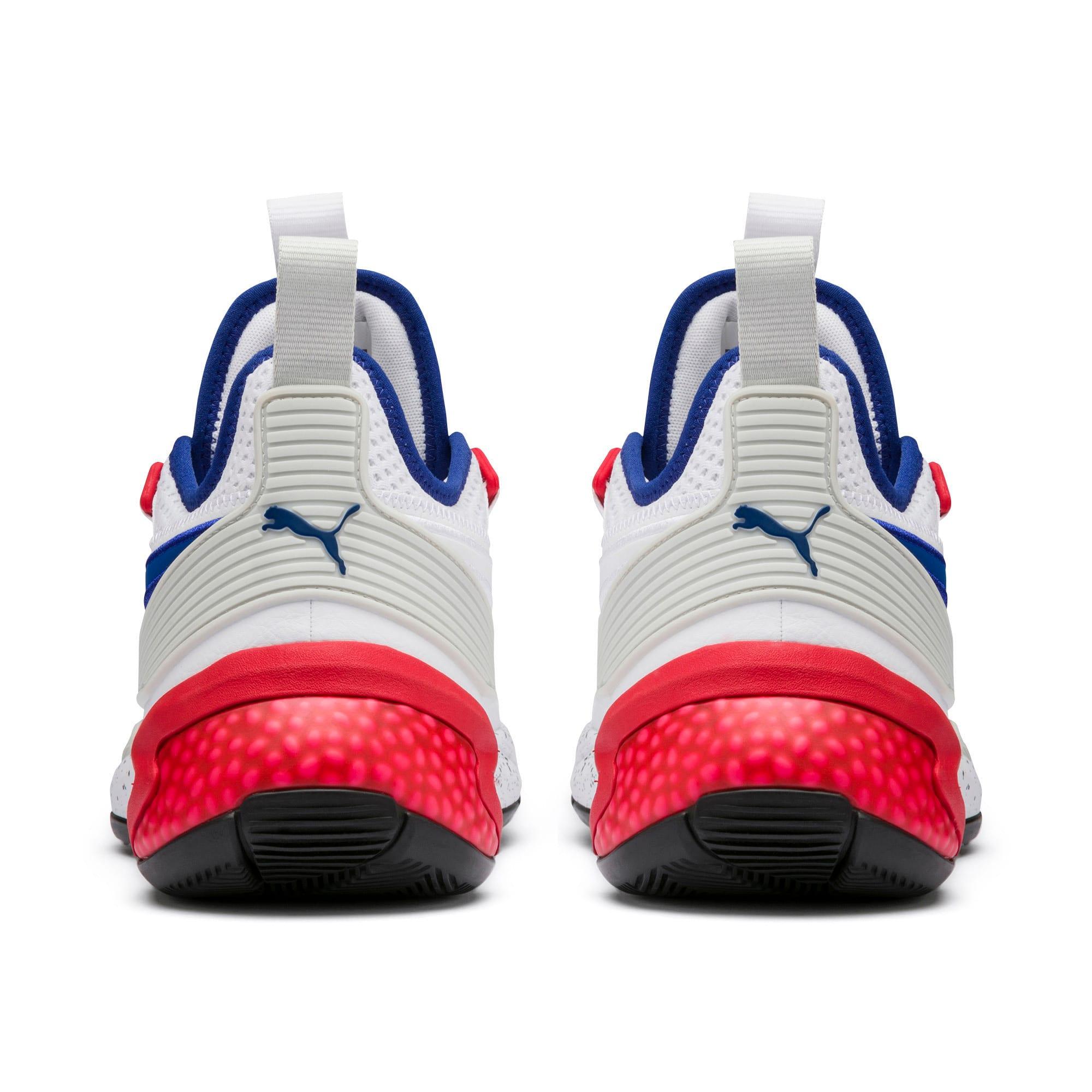 Thumbnail 3 of Uproar Palace Guard Basketball Shoes, Puma White-Surf The Web, medium