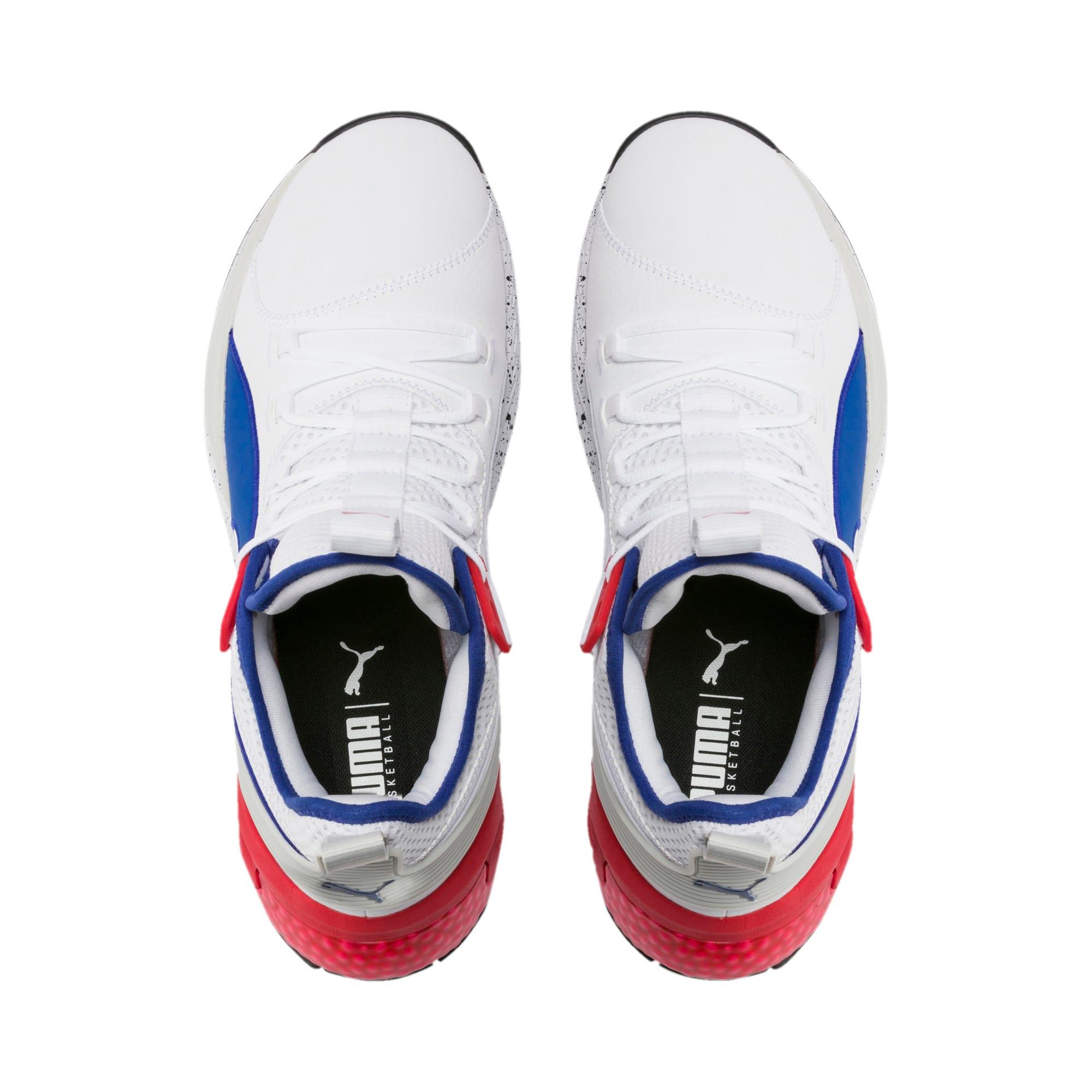 Thumbnail 6 of Chaussure de basketball Uproar Palace Guard pour homme, Puma White-Surf The Web, medium