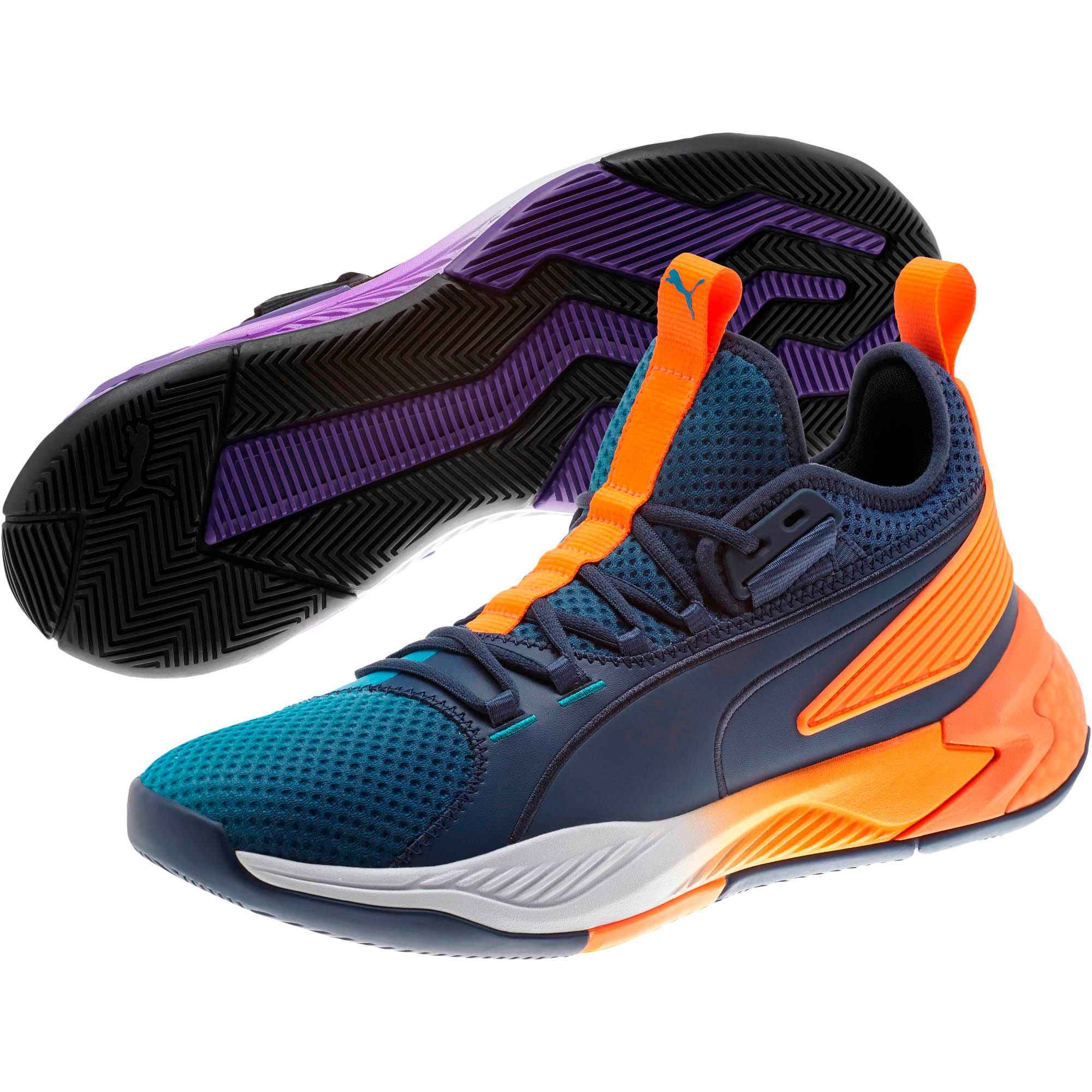 Thumbnail 2 of Uproar Charlotte ASG Fade Basketball Shoes, Orange- PURPLE, medium