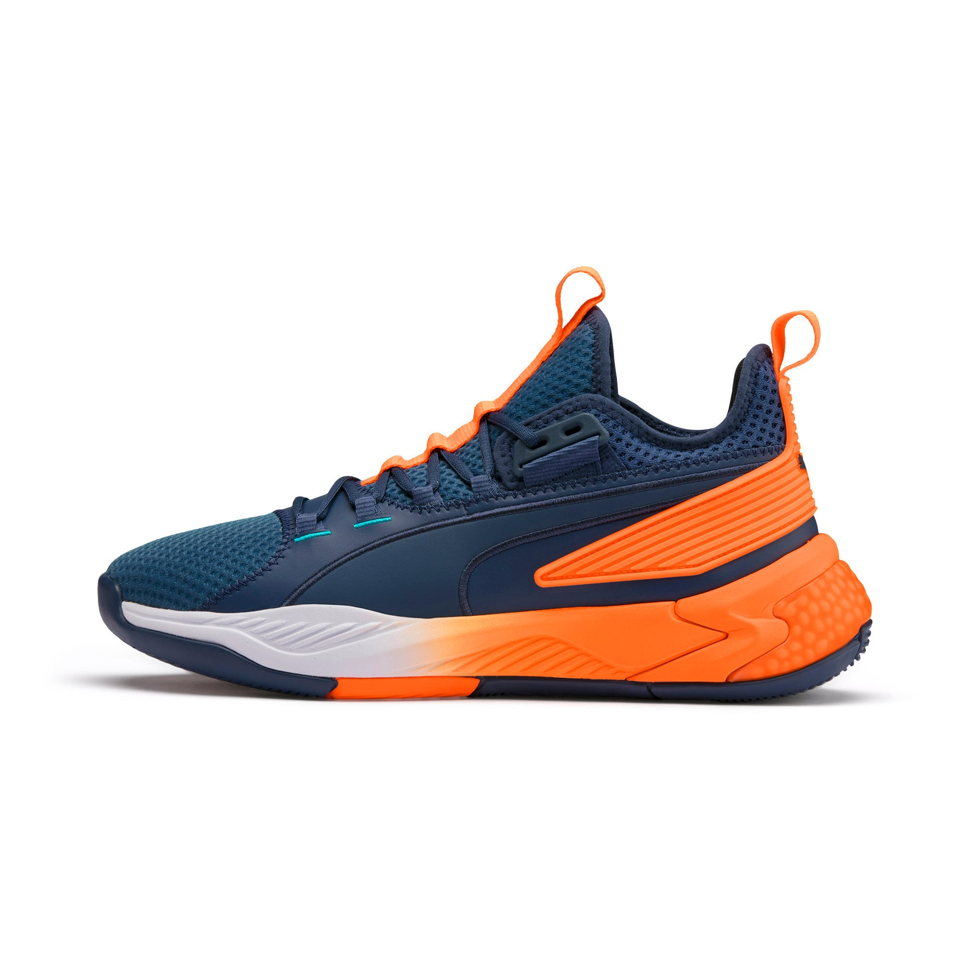 Thumbnail 1 of Uproar Charlotte ASG Fade Basketball Shoes, Orange- PURPLE, medium
