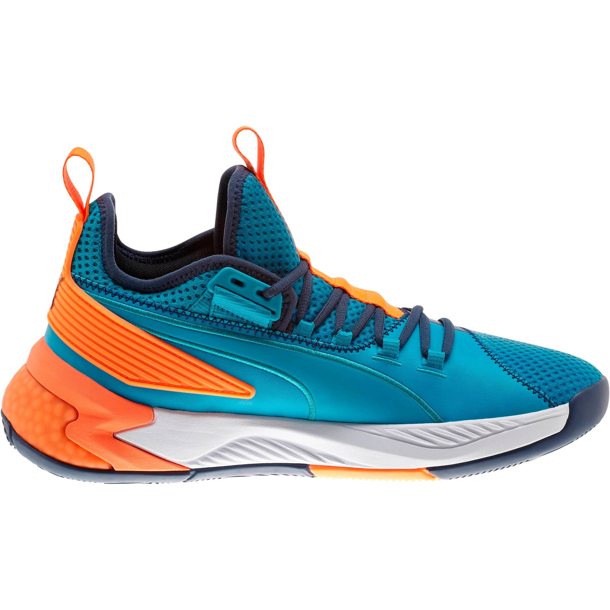 Thumbnail 5 of Uproar Charlotte ASG Fade Basketball Shoes, Orange- PURPLE, medium
