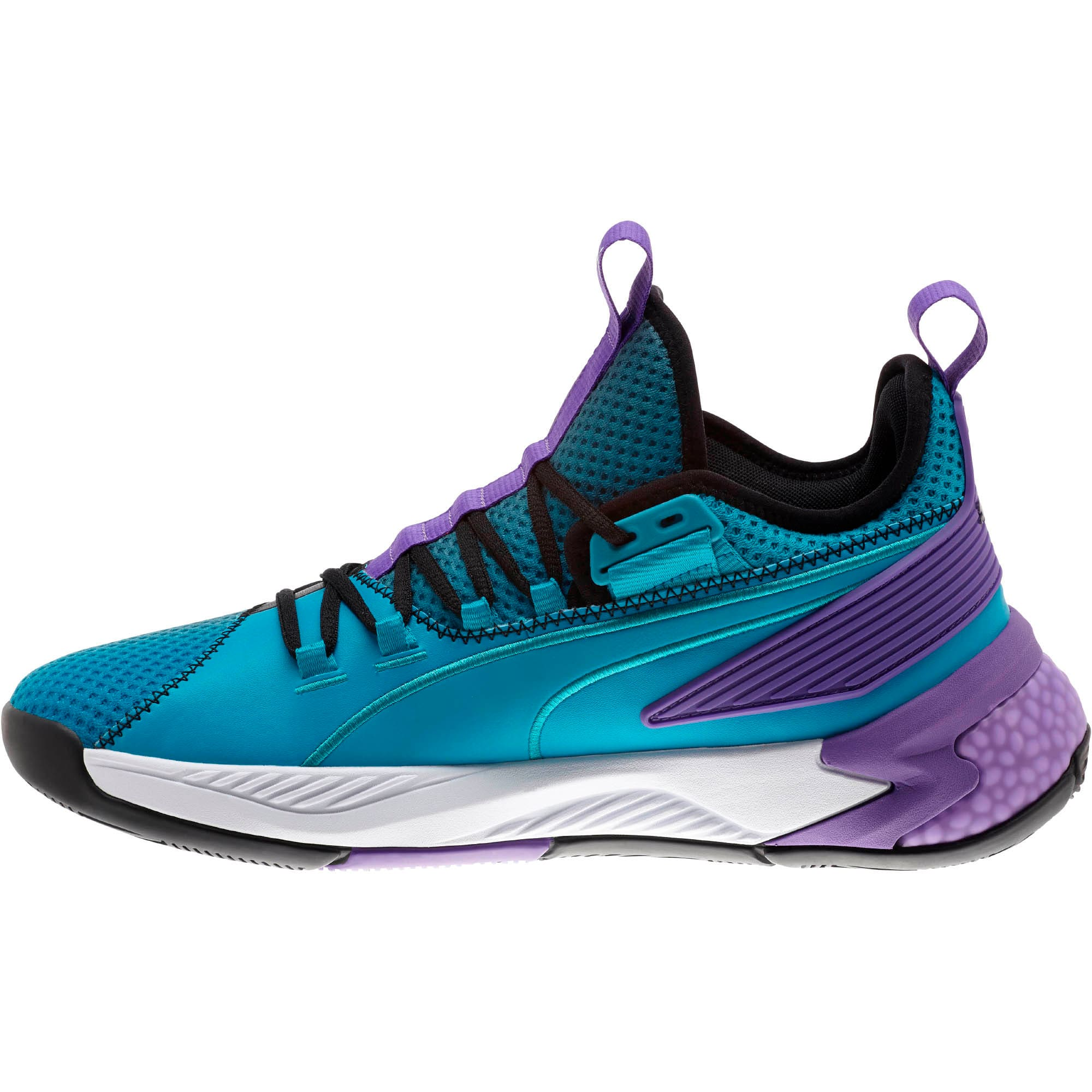Thumbnail 7 of Uproar Charlotte ASG Fade Basketball Shoes, Orange- PURPLE, medium