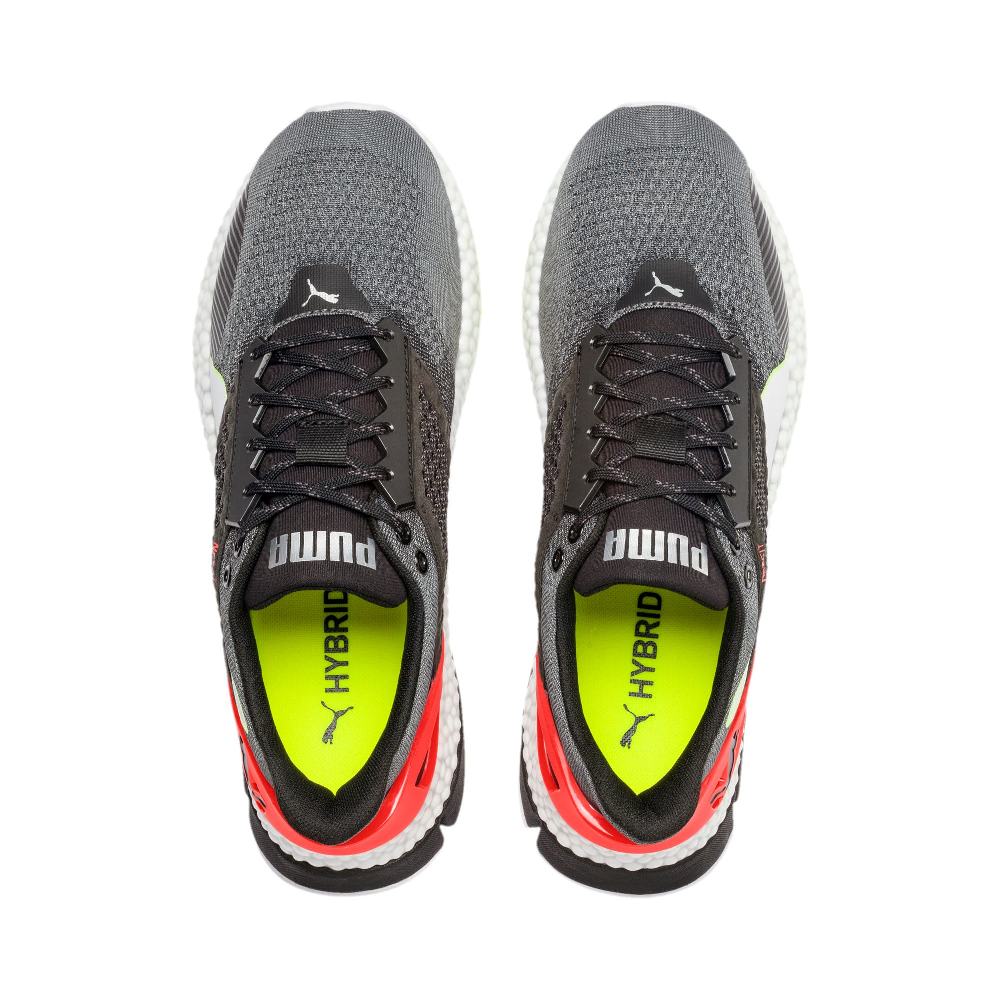 Thumbnail 4 of HYBRID NETFIT Astro Men's Running Shoes, CASTLEROCK-Puma Blck-Ngy Red, medium-IND
