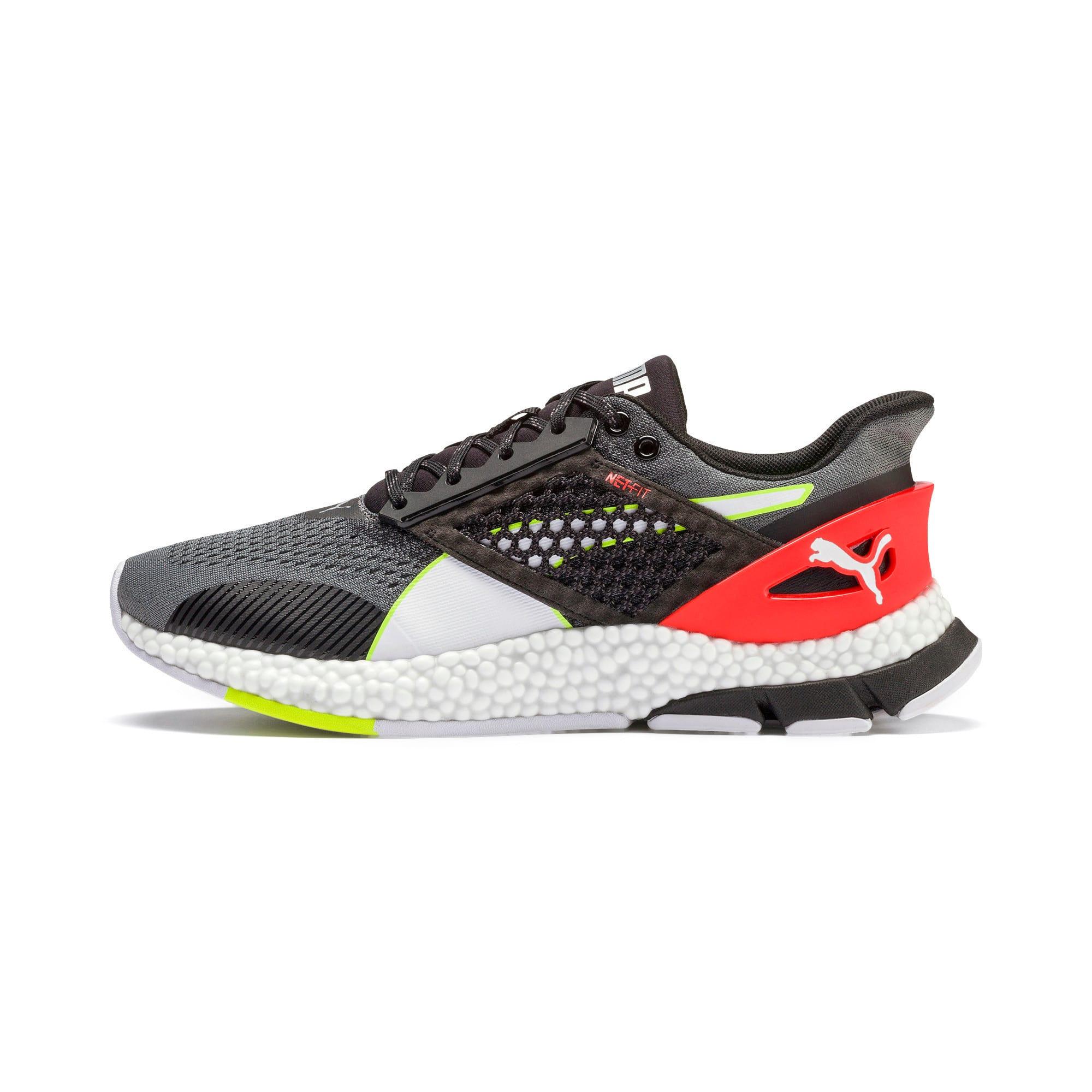 Thumbnail 1 of HYBRID NETFIT Astro Men's Running Shoes, CASTLEROCK-Puma Blck-Ngy Red, medium-IND